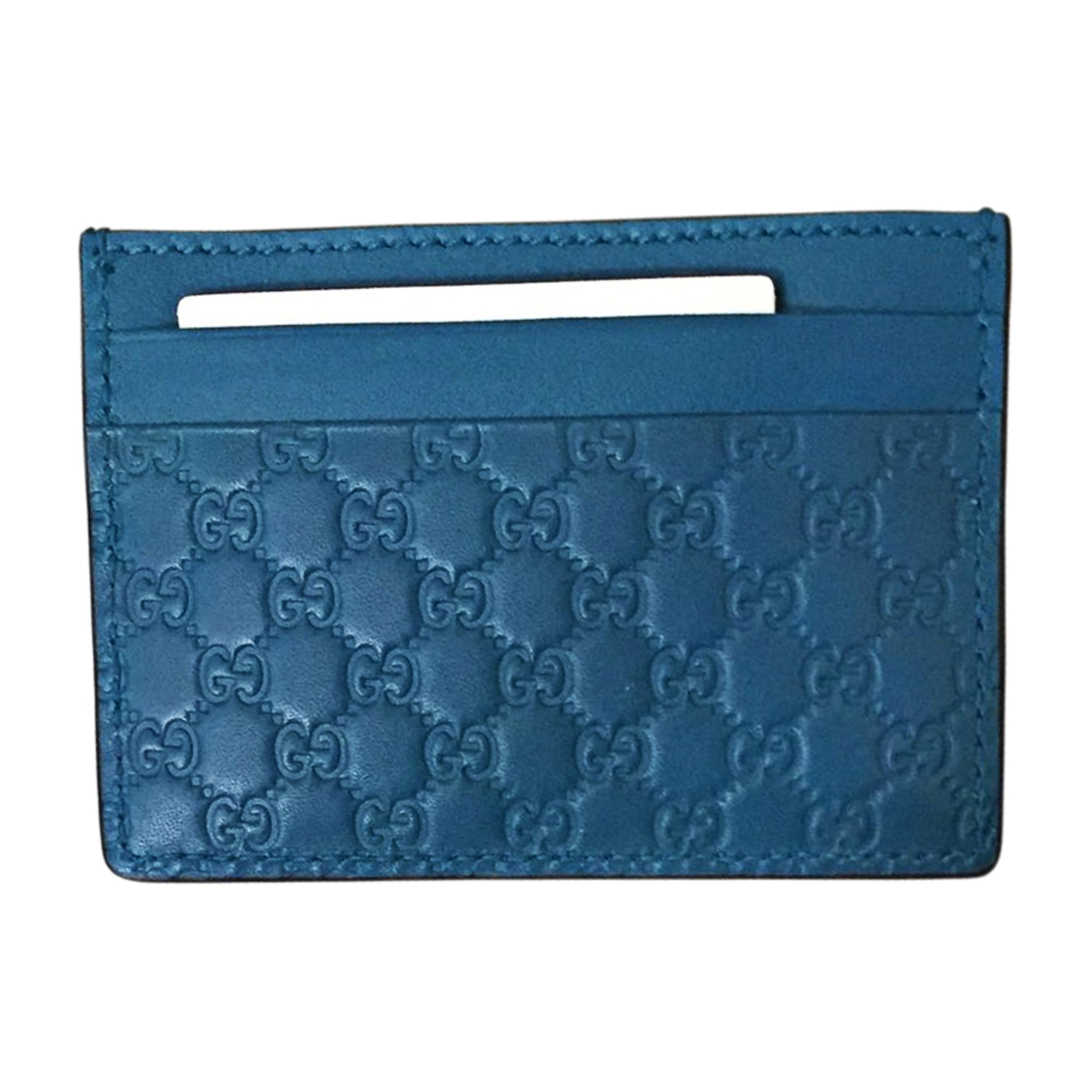 Card Case GUCCI Blue, navy, turquoise