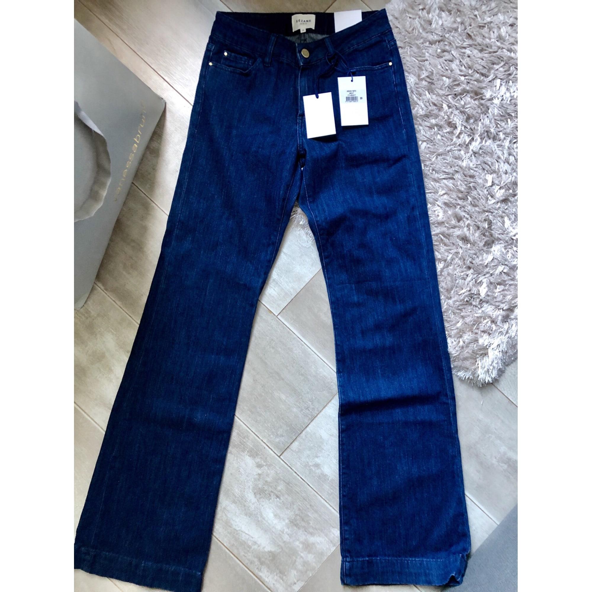 Jeans évasé, boot-cut SÉZANE Bleu, bleu marine, bleu turquoise