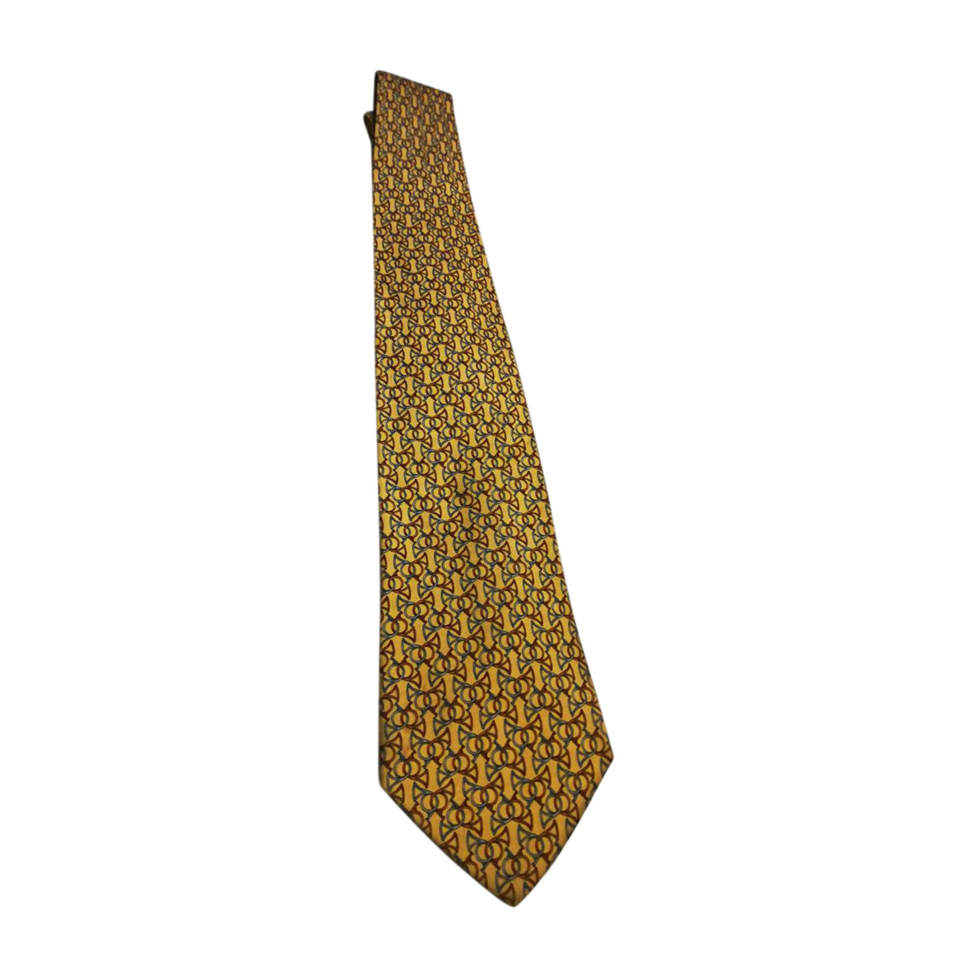Tie SALVATORE FERRAGAMO Yellow