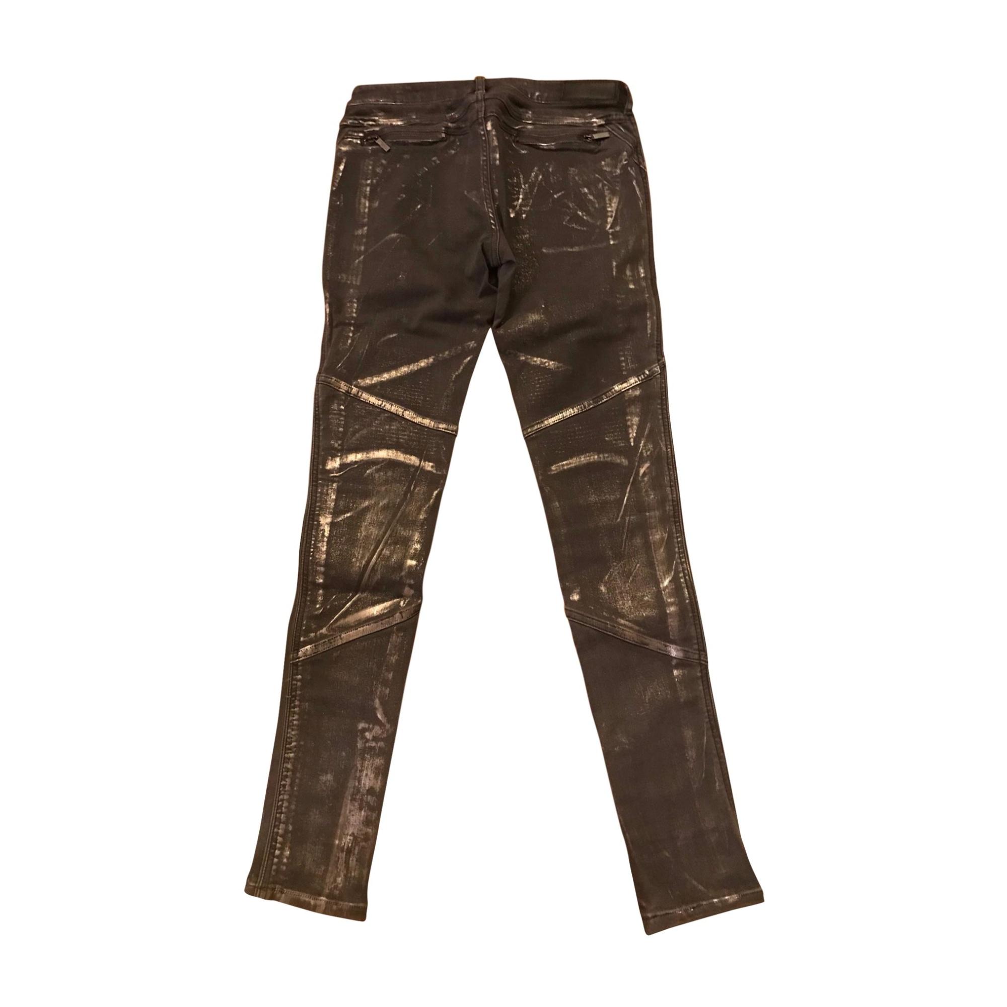 Jeans slim KARL LAGERFELD Argenté, acier