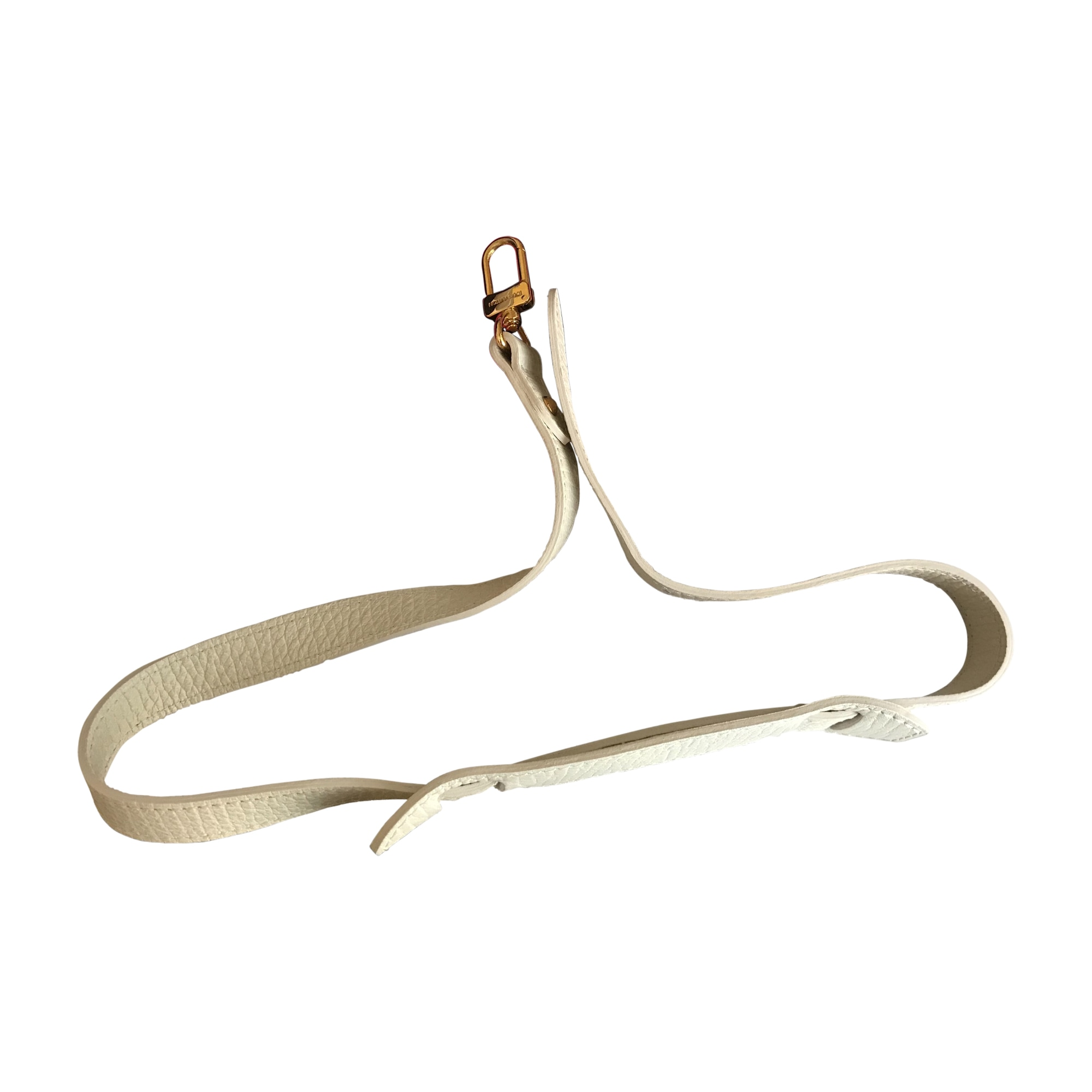 Skinny Belt LOUIS VUITTON White, off-white, ecru