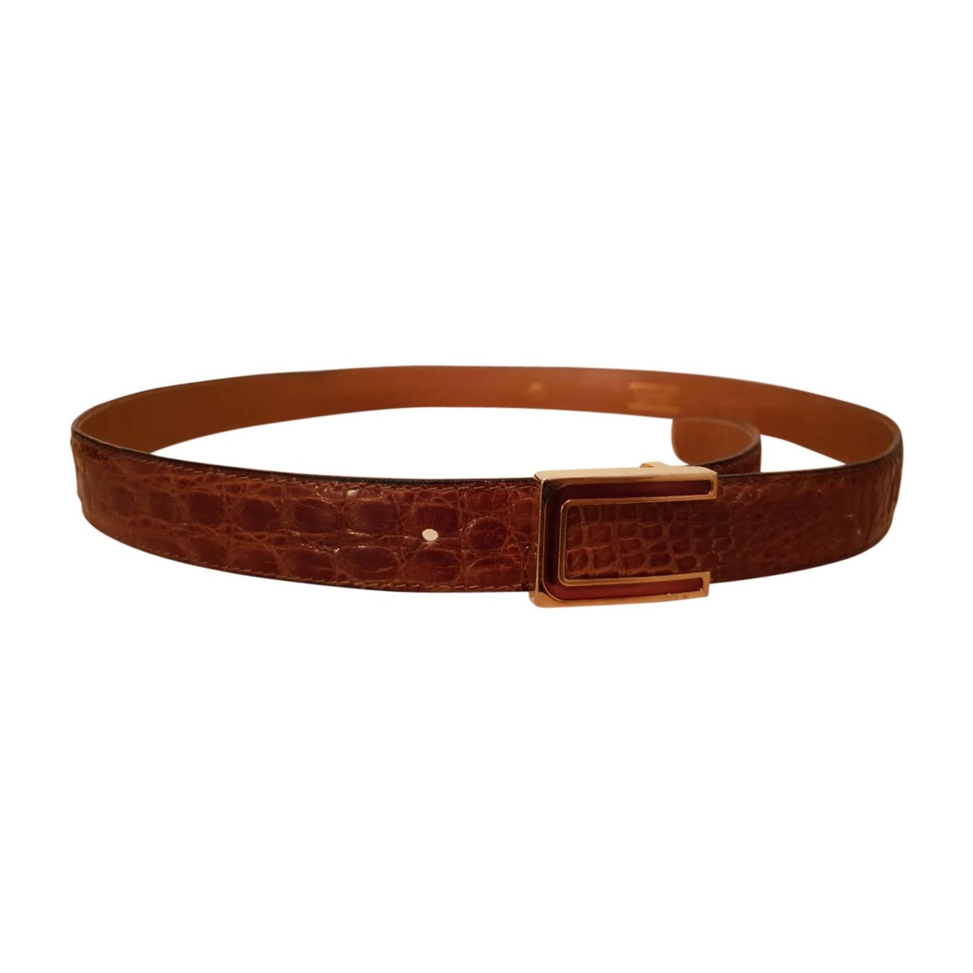 Wide Belt A. TESTONI Brown