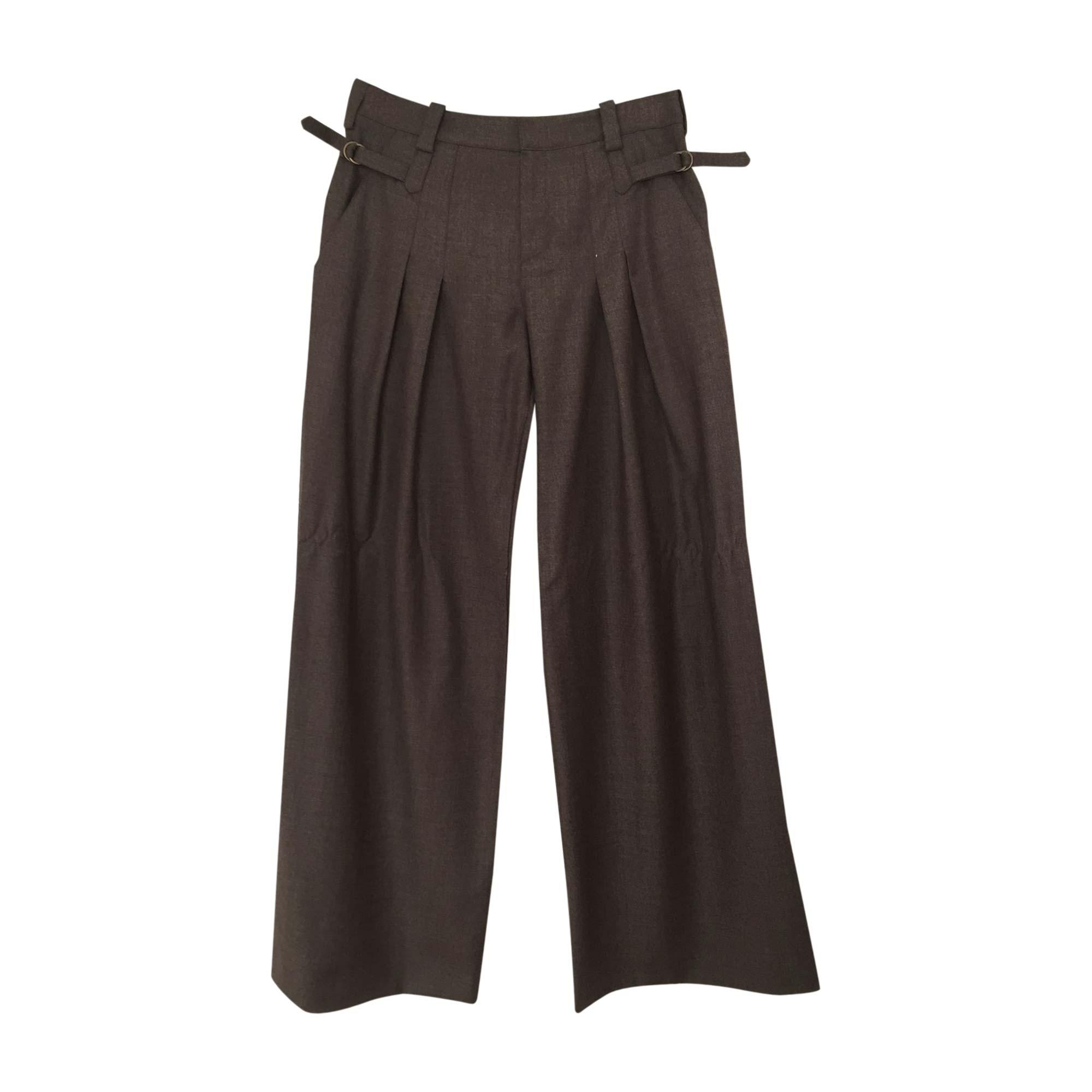 Pantalon très evasé, patte d'éléphant VANESSA BRUNO Marron