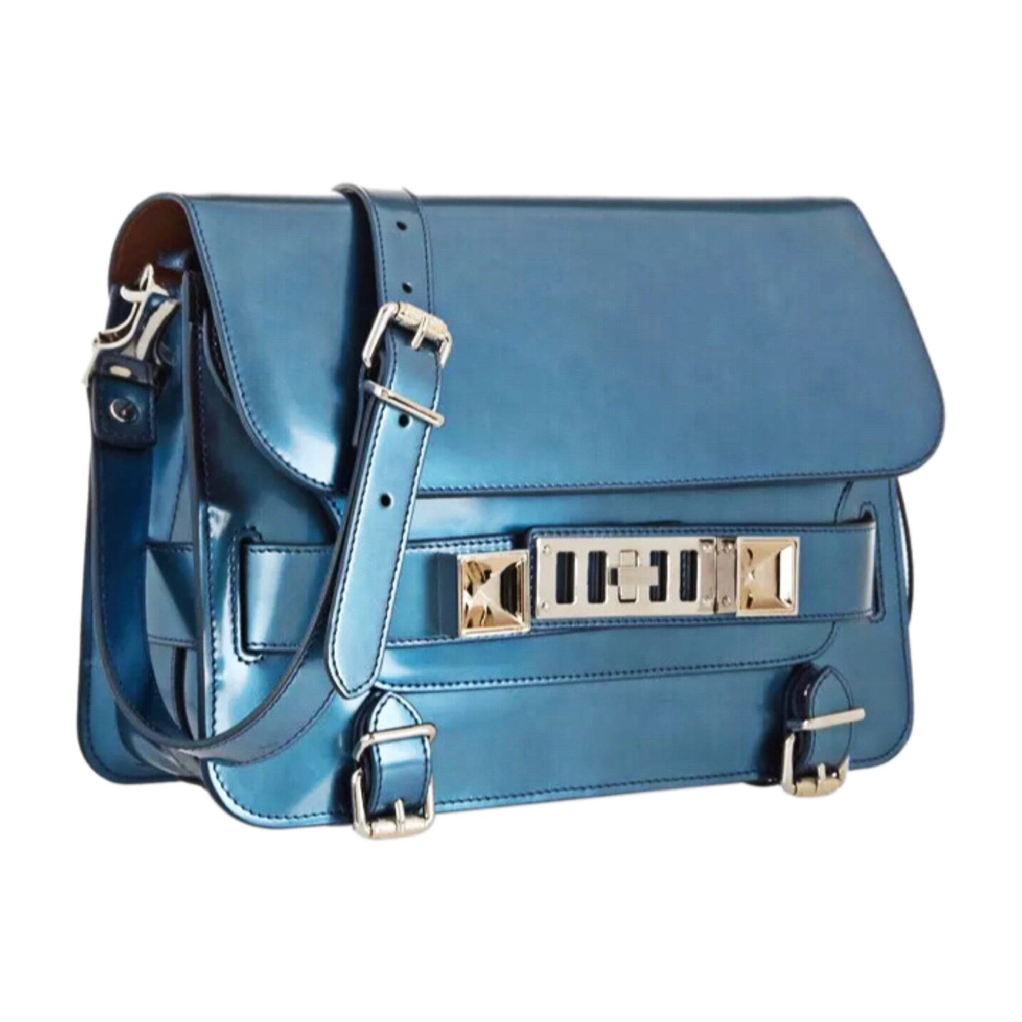 Sac à main en cuir PROENZA SCHOULER Bleu, bleu marine, bleu turquoise