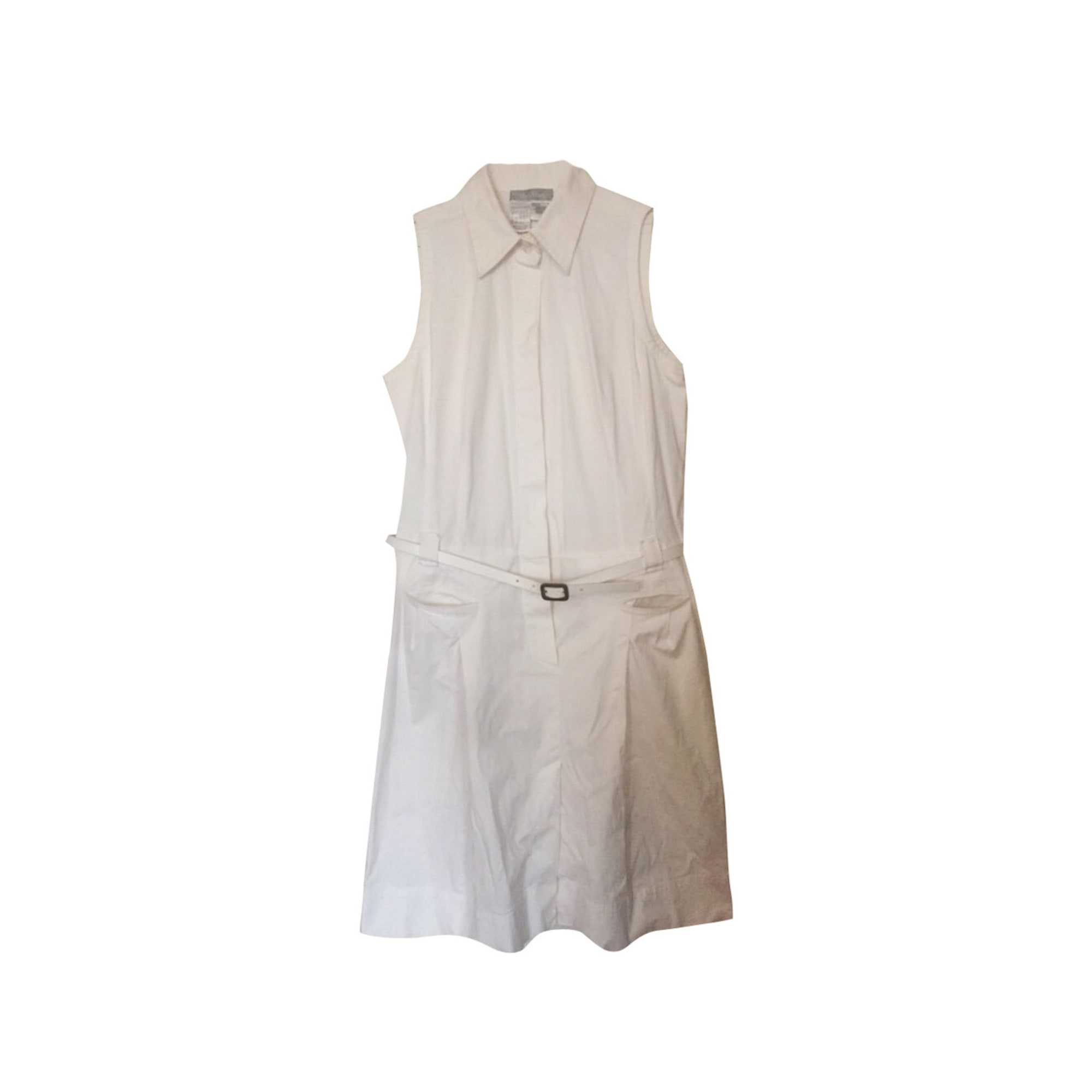 Robe mi-longue MAX MARA Blanc, blanc cassé, écru