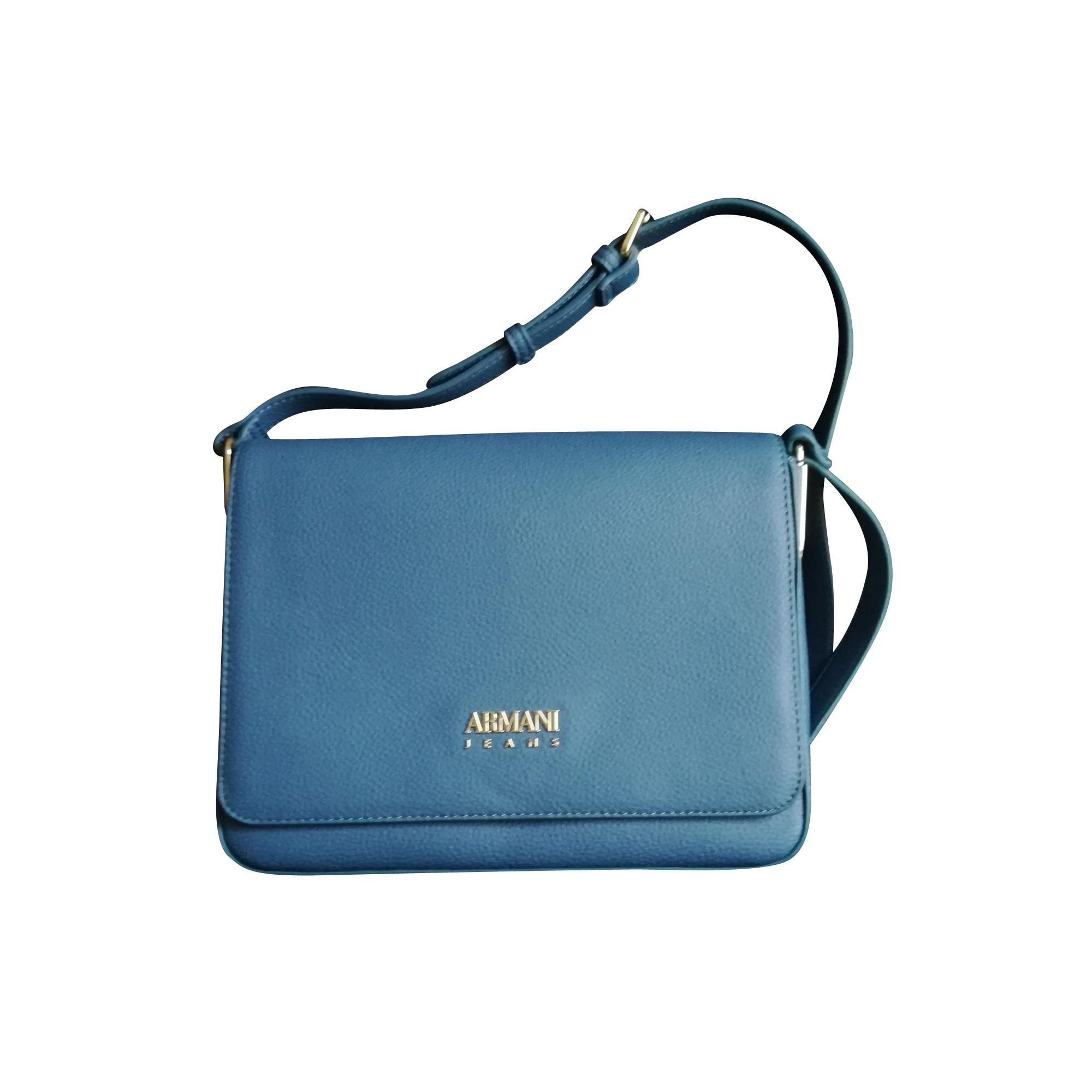 85a64ae396ef Sac à main en cuir ARMANI JEANS Bleu, bleu marine, bleu turquoise