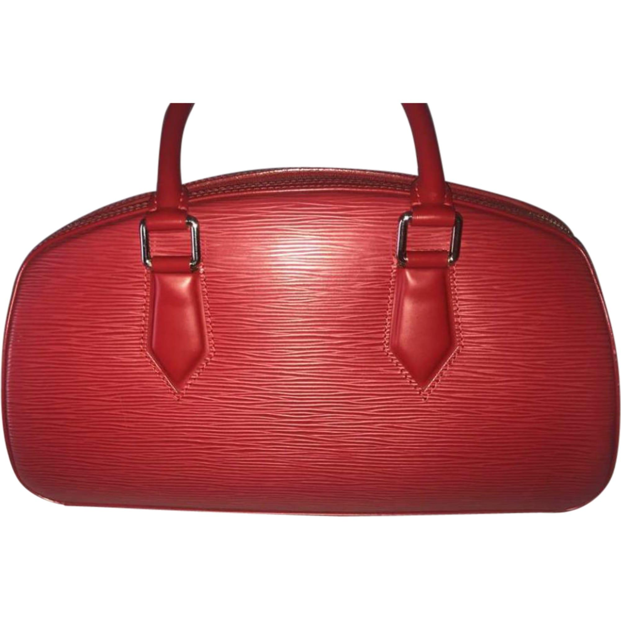c98e903d80 Sac à main en cuir LOUIS VUITTON Rouge, bordeaux