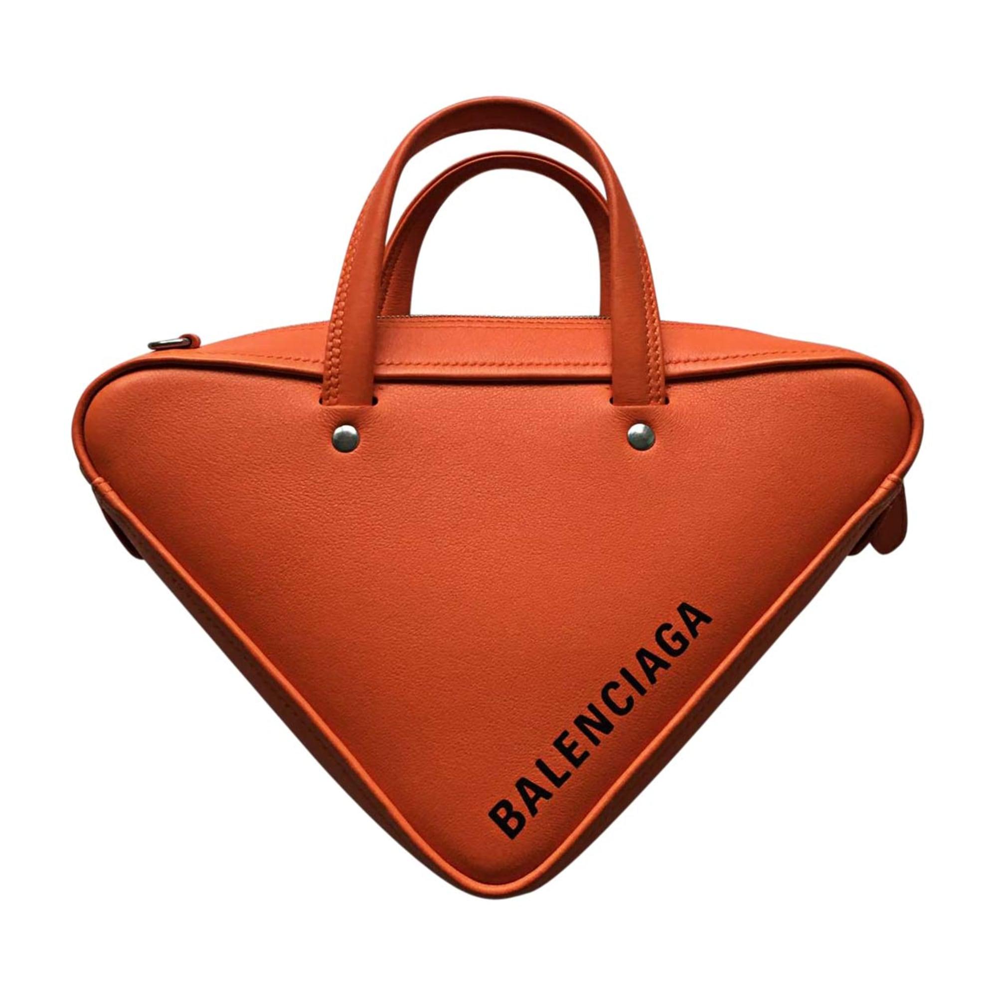 Leather Handbag BALENCIAGA Orange