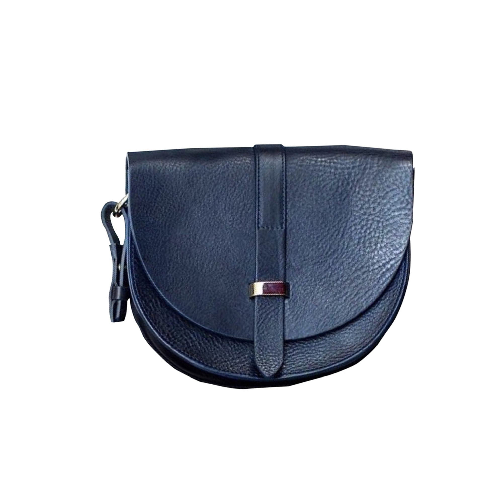 Leather Shoulder Bag SÉZANE Blue, navy, turquoise