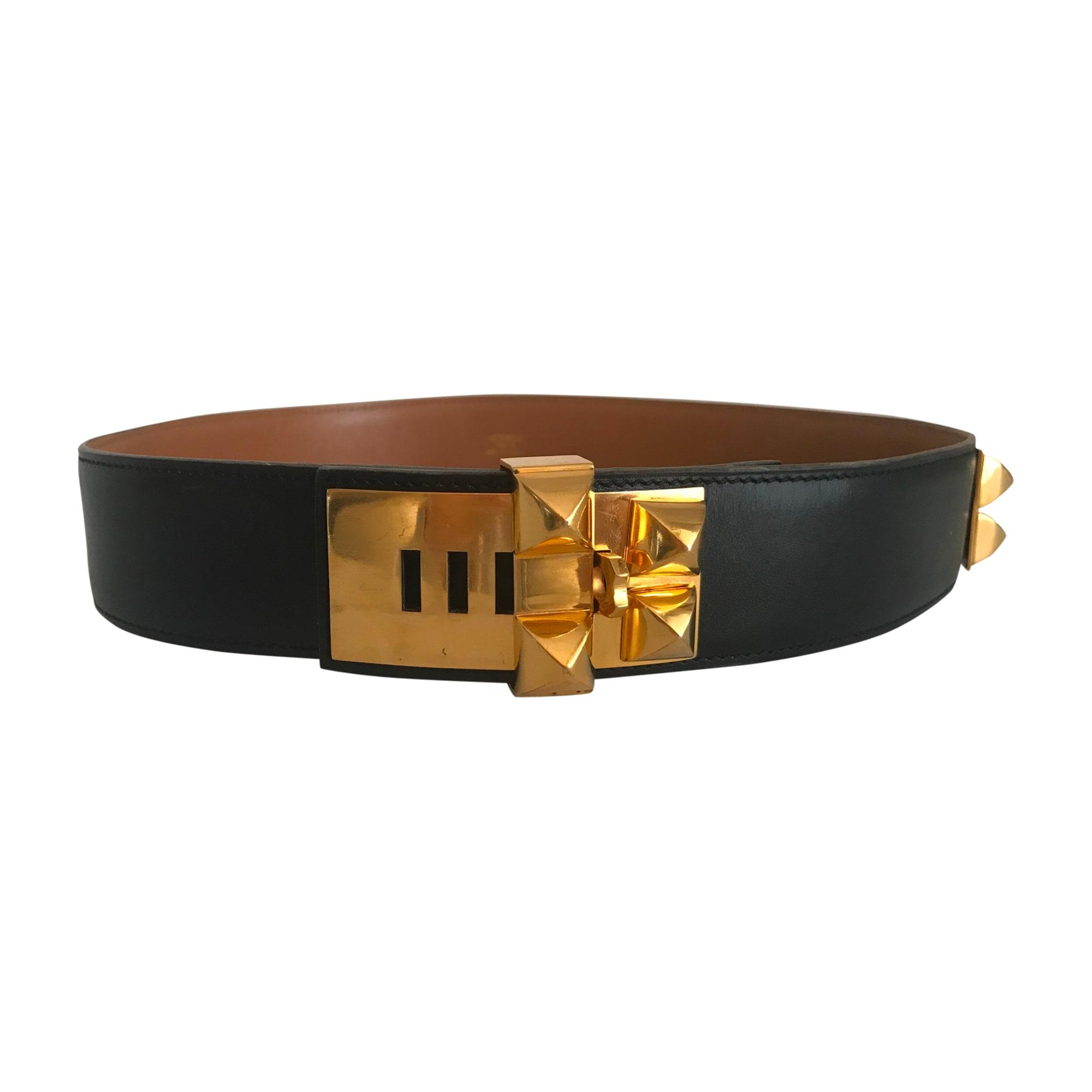 Skinny Belt HERMÈS Médor Black