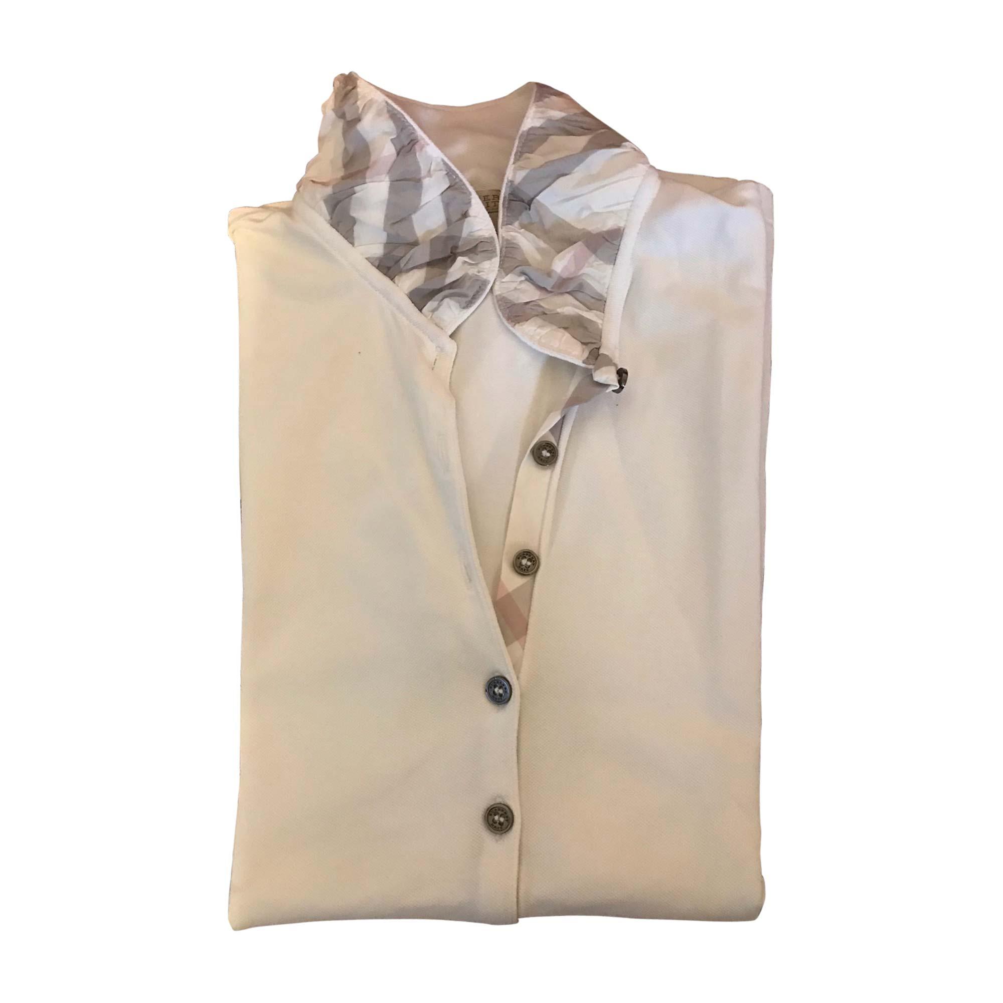 Polo BURBERRY White, off-white, ecru