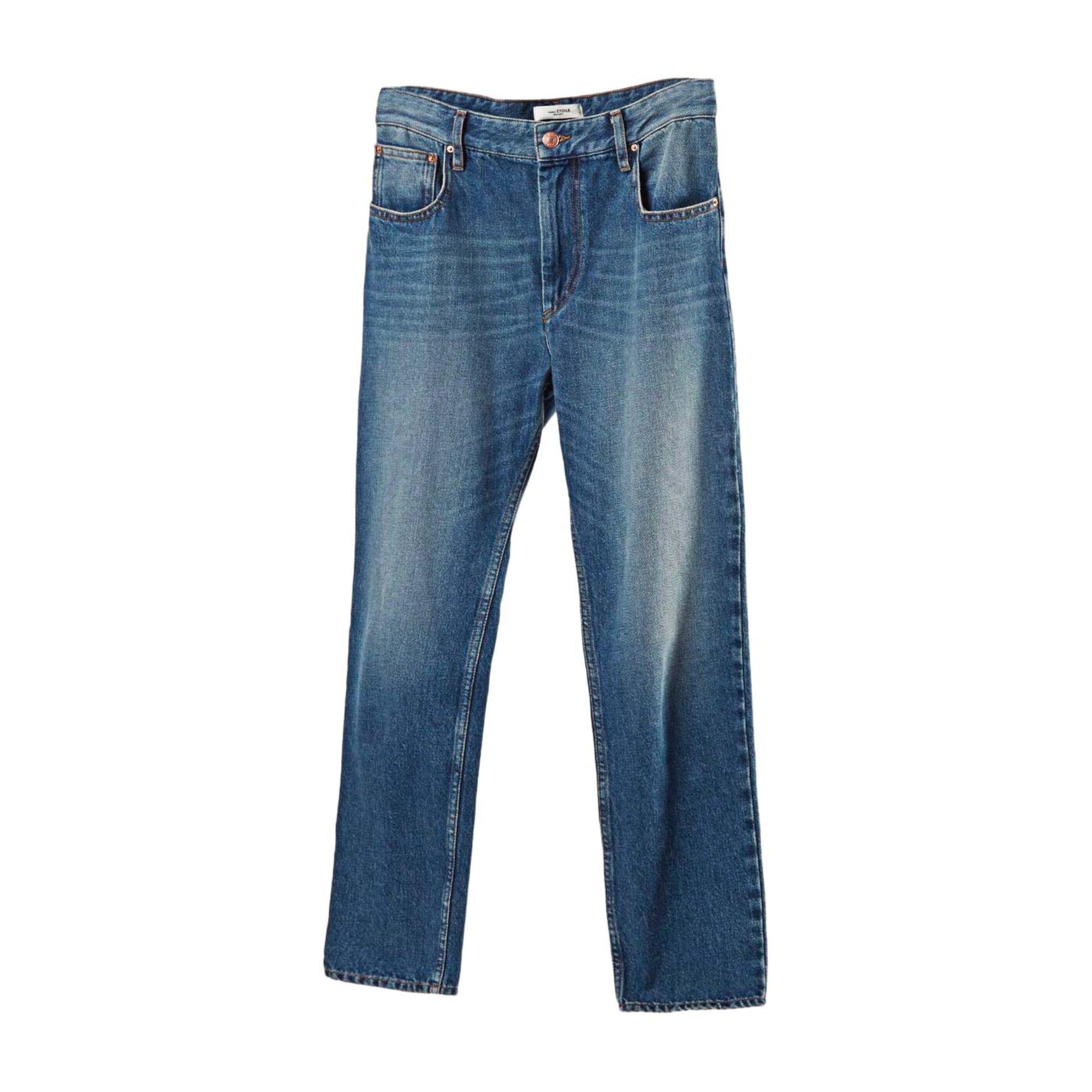 Jeans droit ISABEL MARANT ETOILE Bleu, bleu marine, bleu turquoise