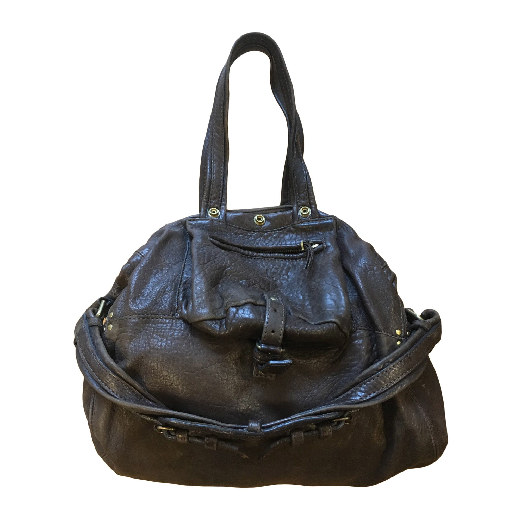 Leather Handbag JEROME DREYFUSS Brown