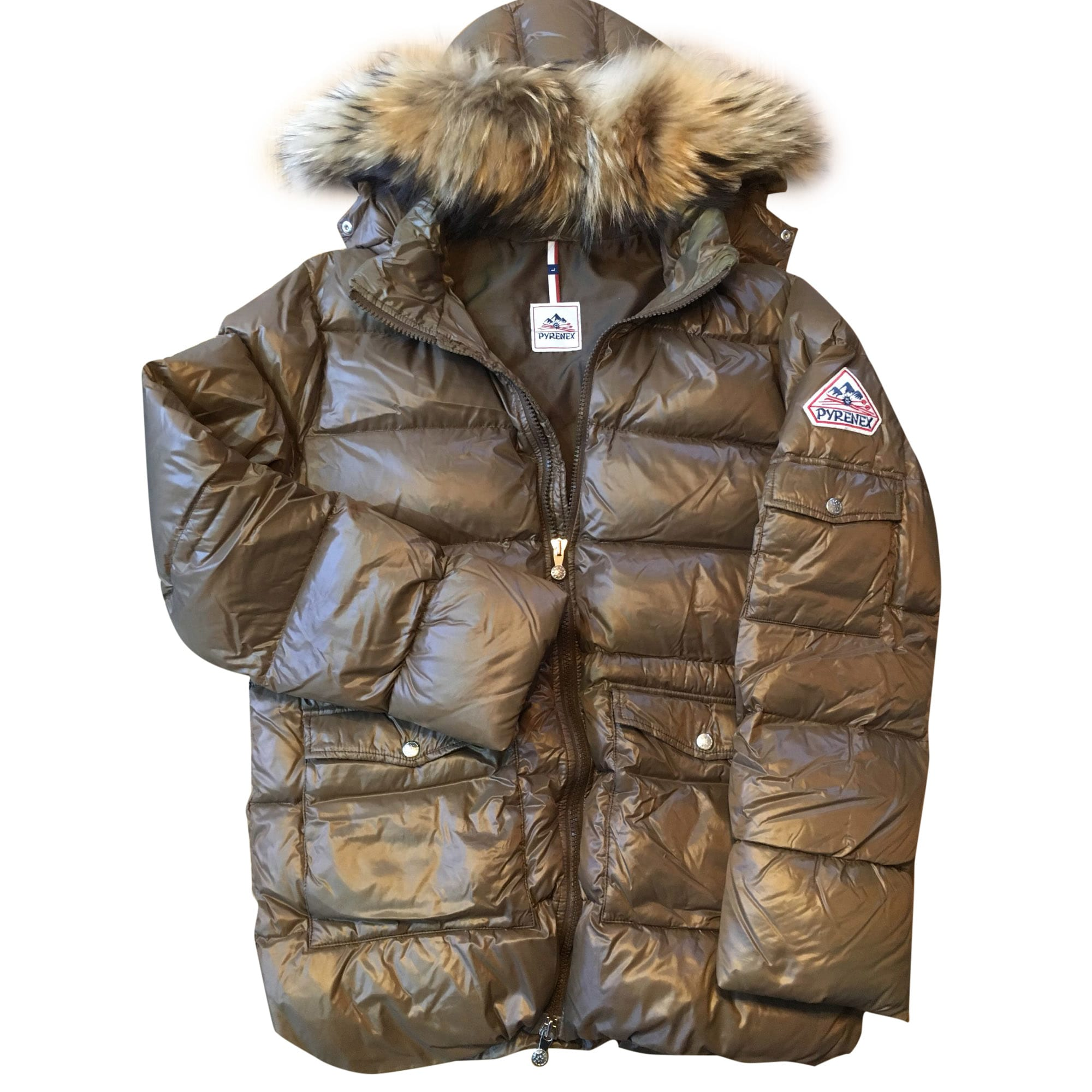 Down Jacket PYRENEX Brown