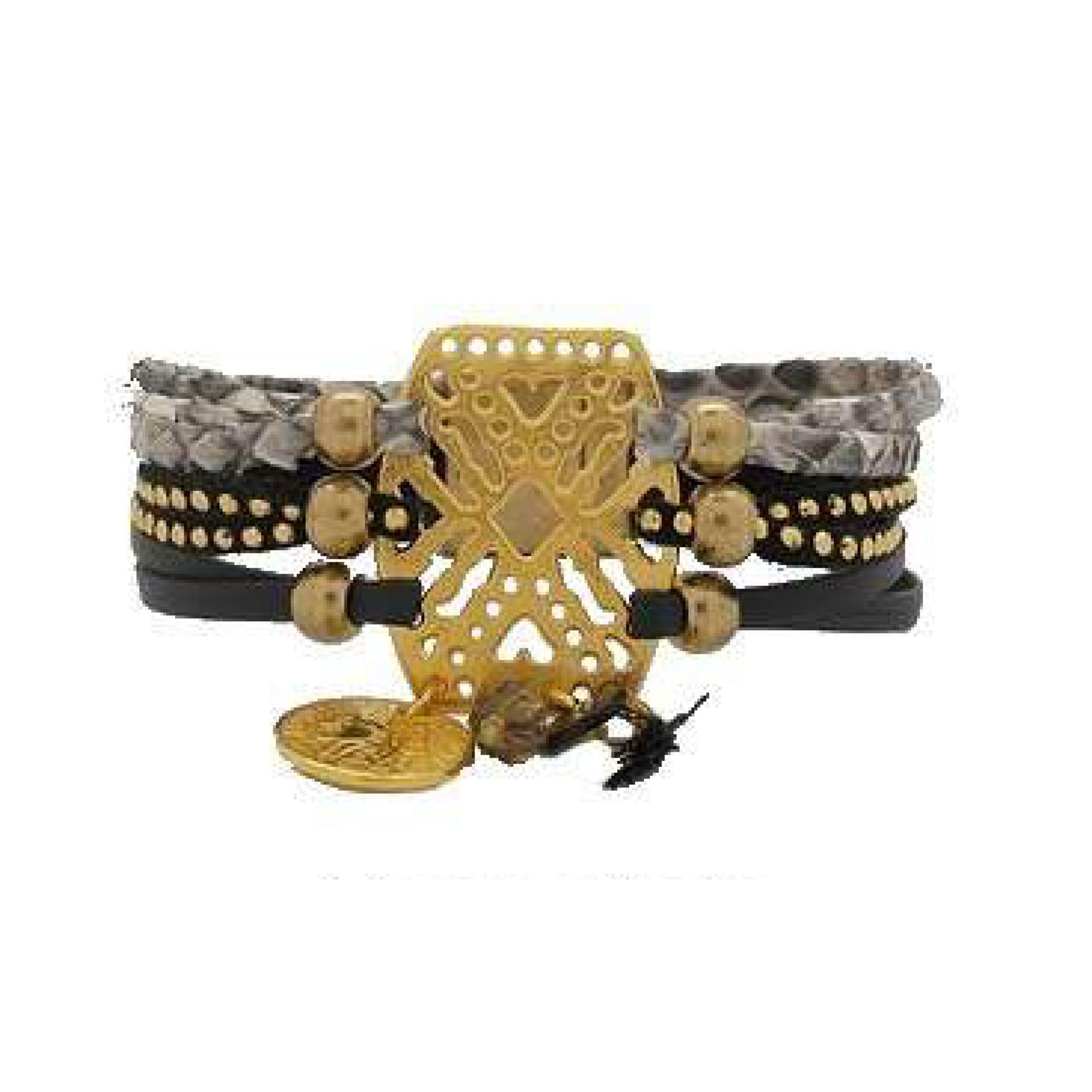 Bracelet POAPO cuir multicolore