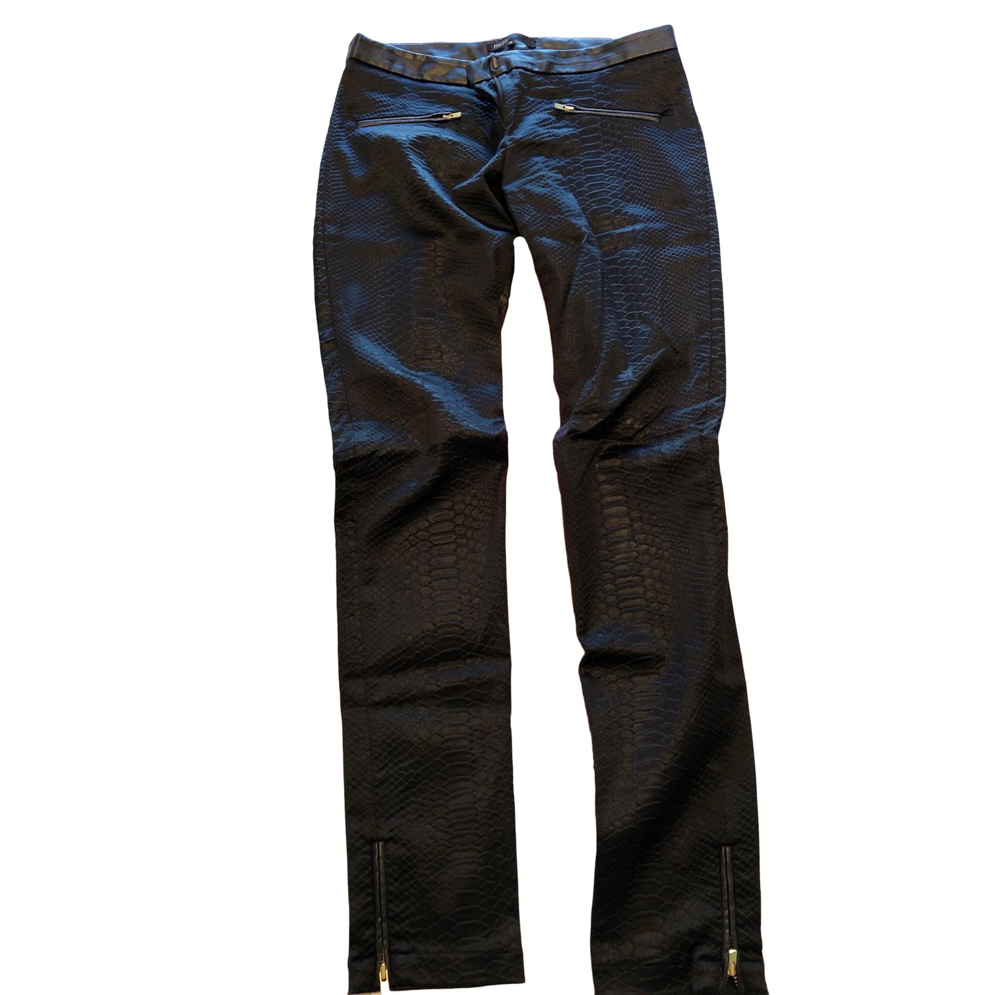 Pantalon slim, cigarette MAJE Noir