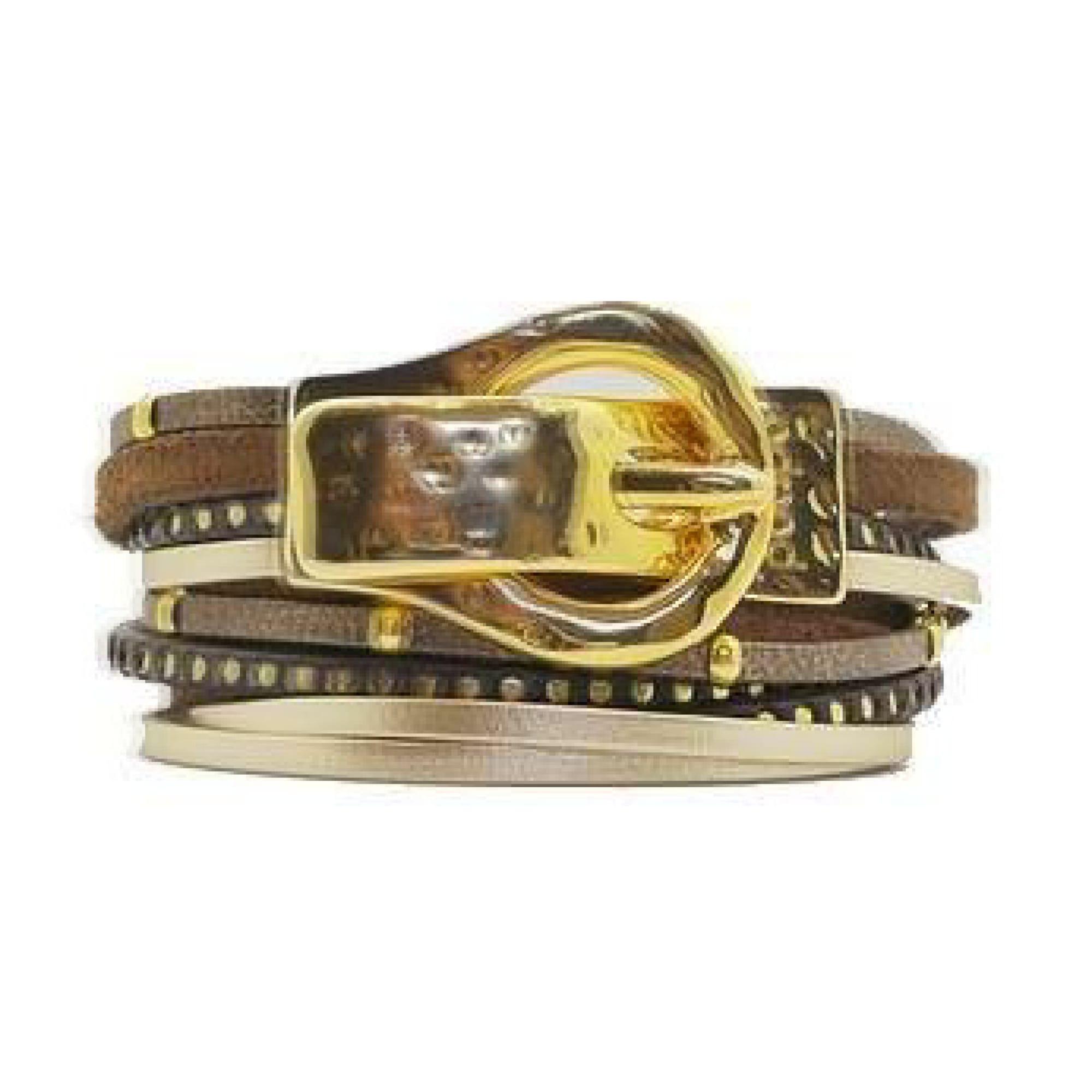 Bracelet POAPO cuir marron