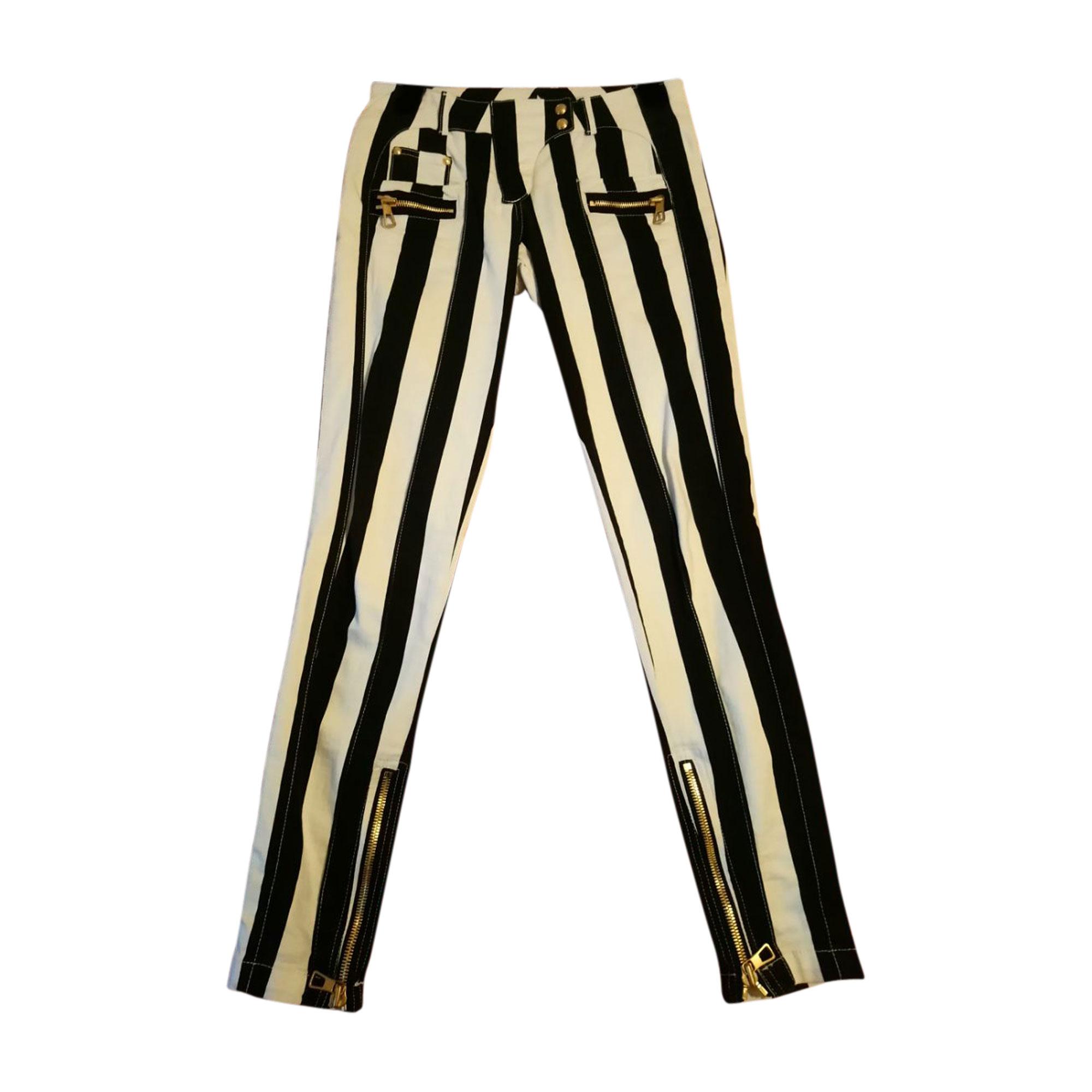 Jeans slim BALMAIN X H&M Bianco, bianco sporco, ecru