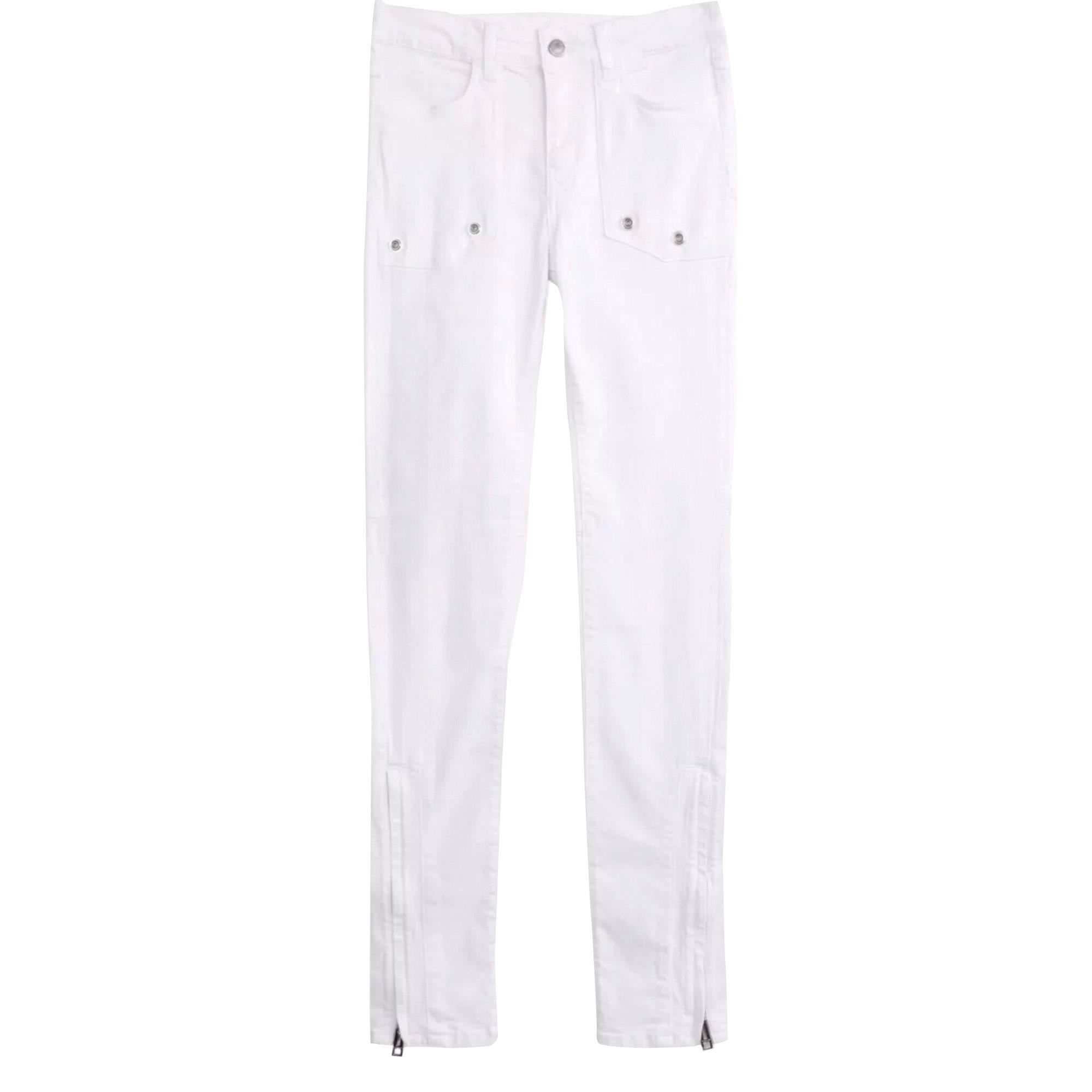 Jeans droit ZADIG & VOLTAIRE Blanc, blanc cassé, écru
