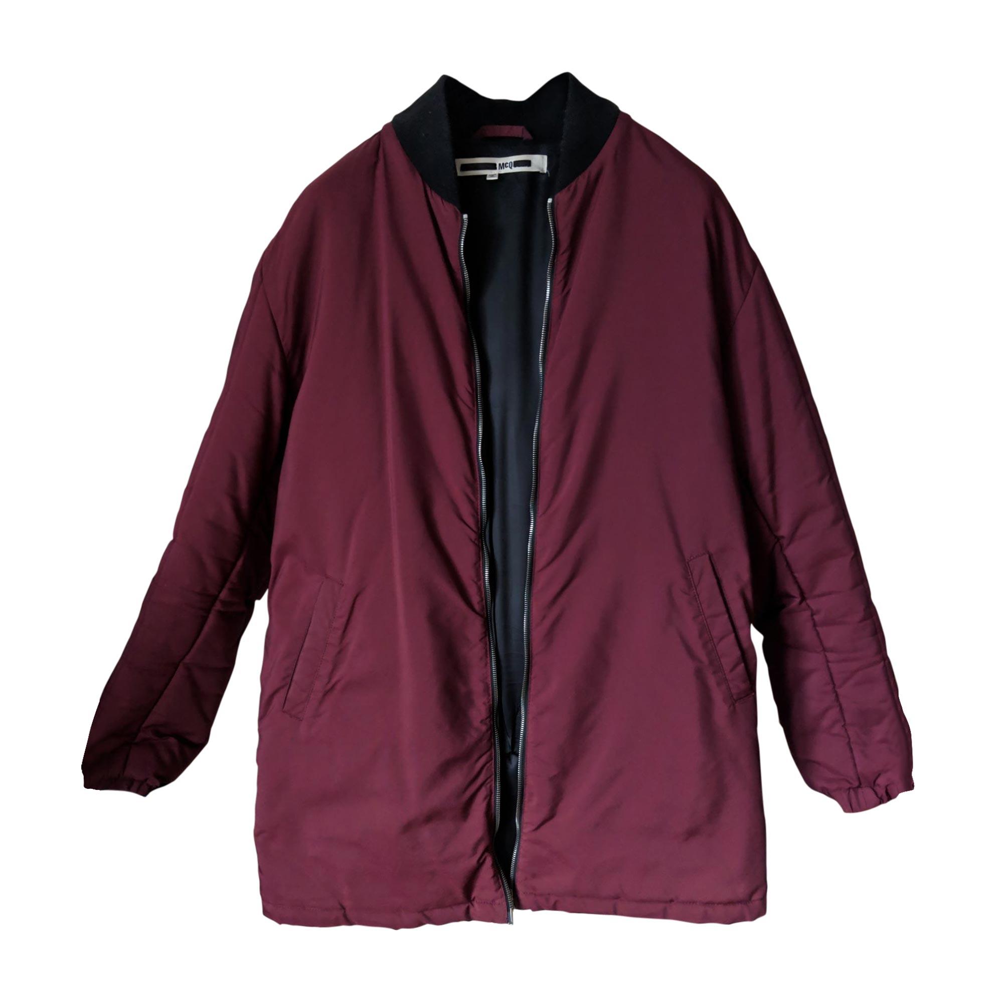 Zipped Jacket ALEXANDER MCQUEEN Red, burgundy
