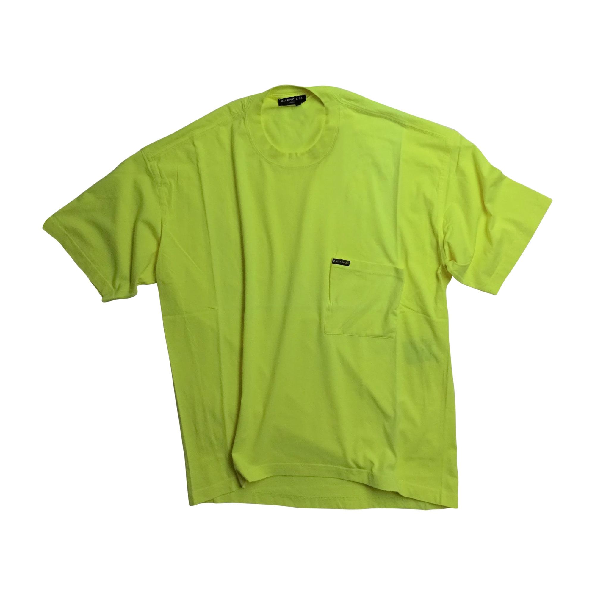 T-shirt BALENCIAGA Yellow