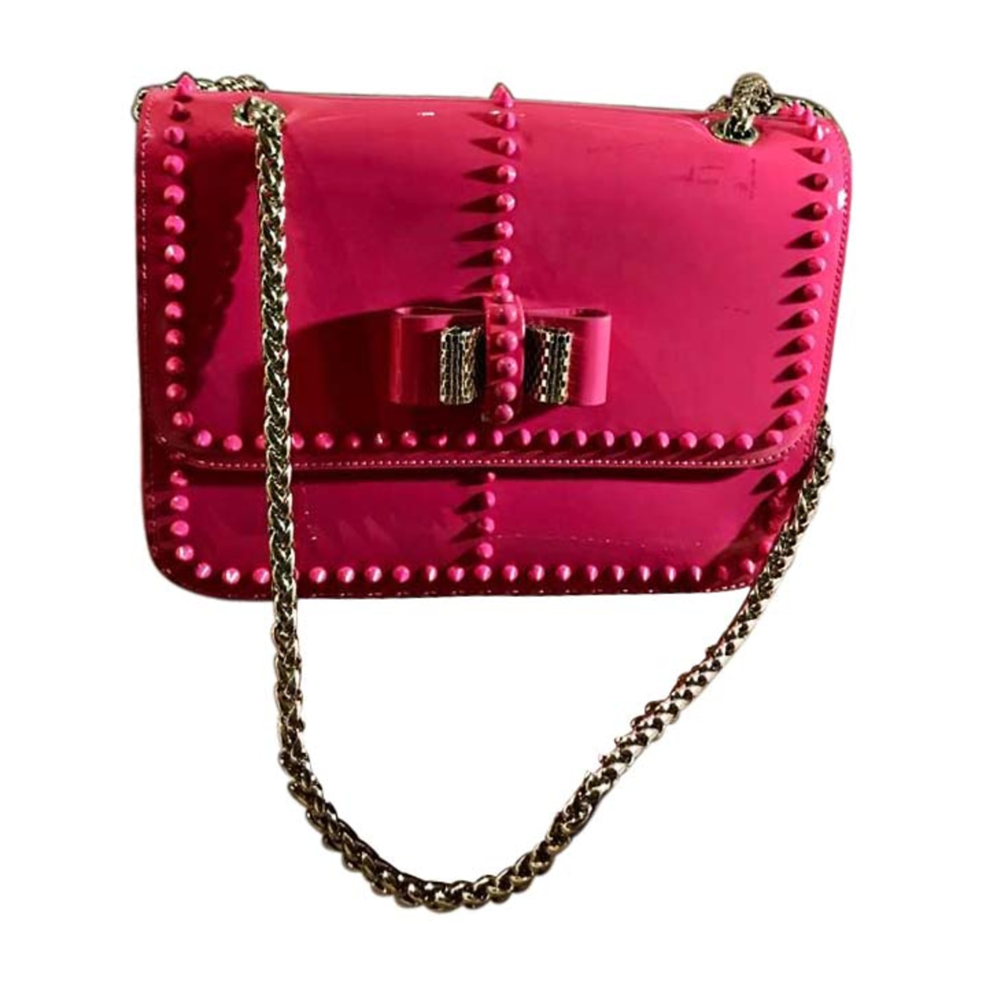 Leather Shoulder Bag CHRISTIAN LOUBOUTIN Pink, fuchsia, light pink