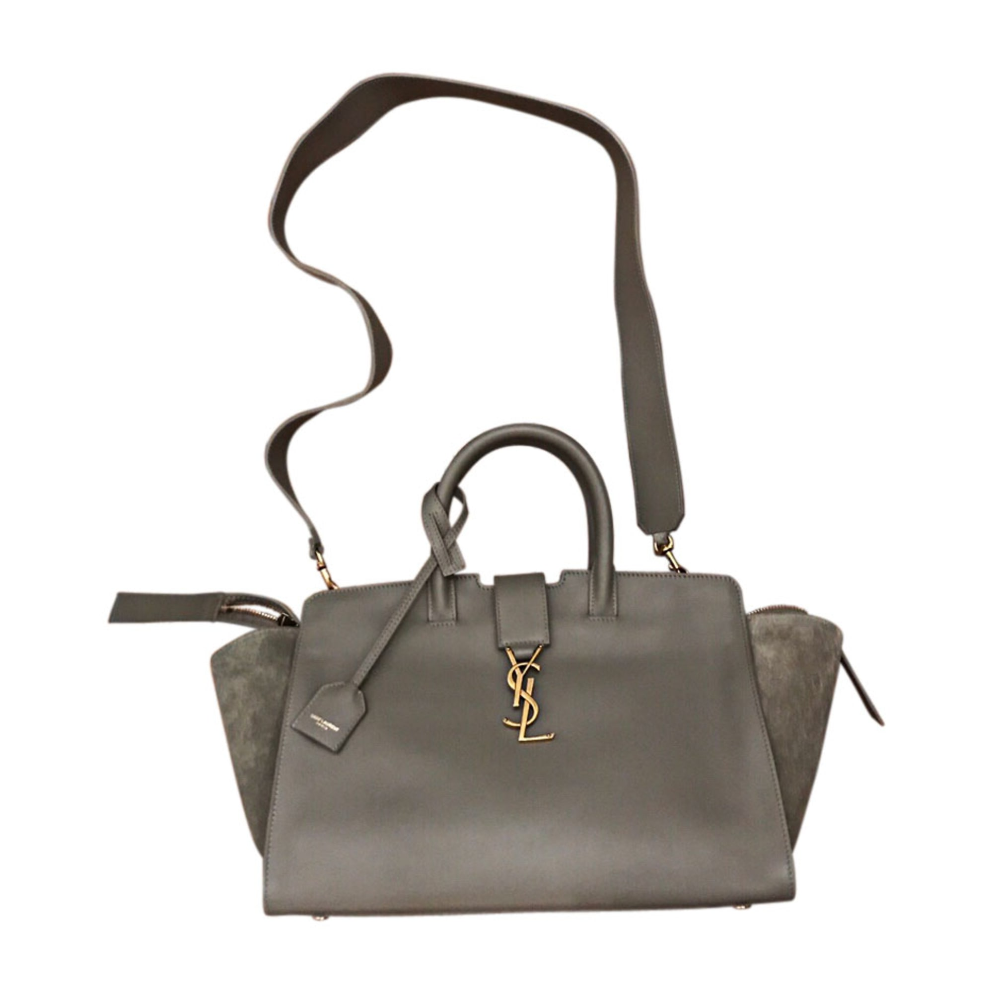 Leather Handbag SAINT LAURENT Khaki