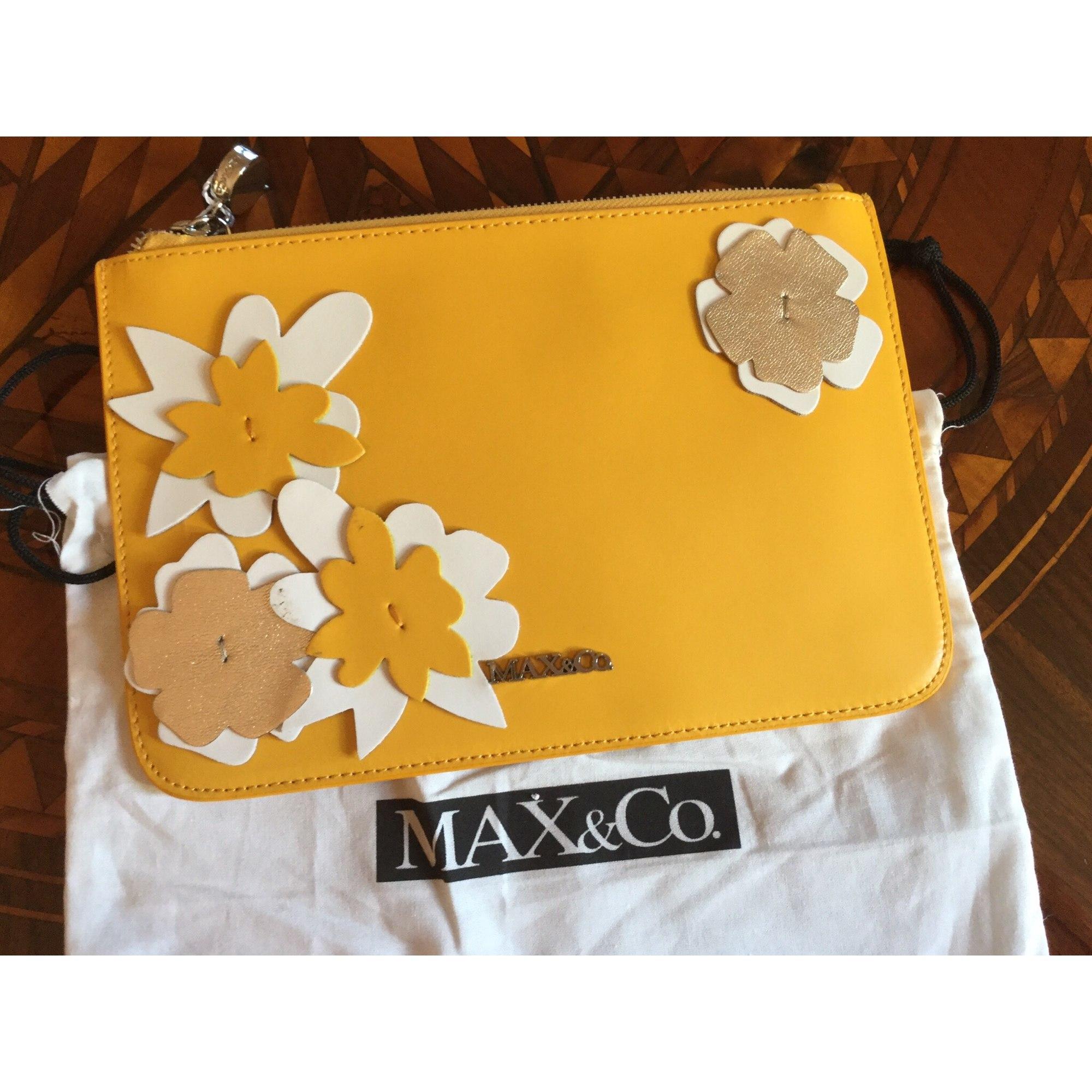 Sac pochette en cuir MAX & CO cuir jaune