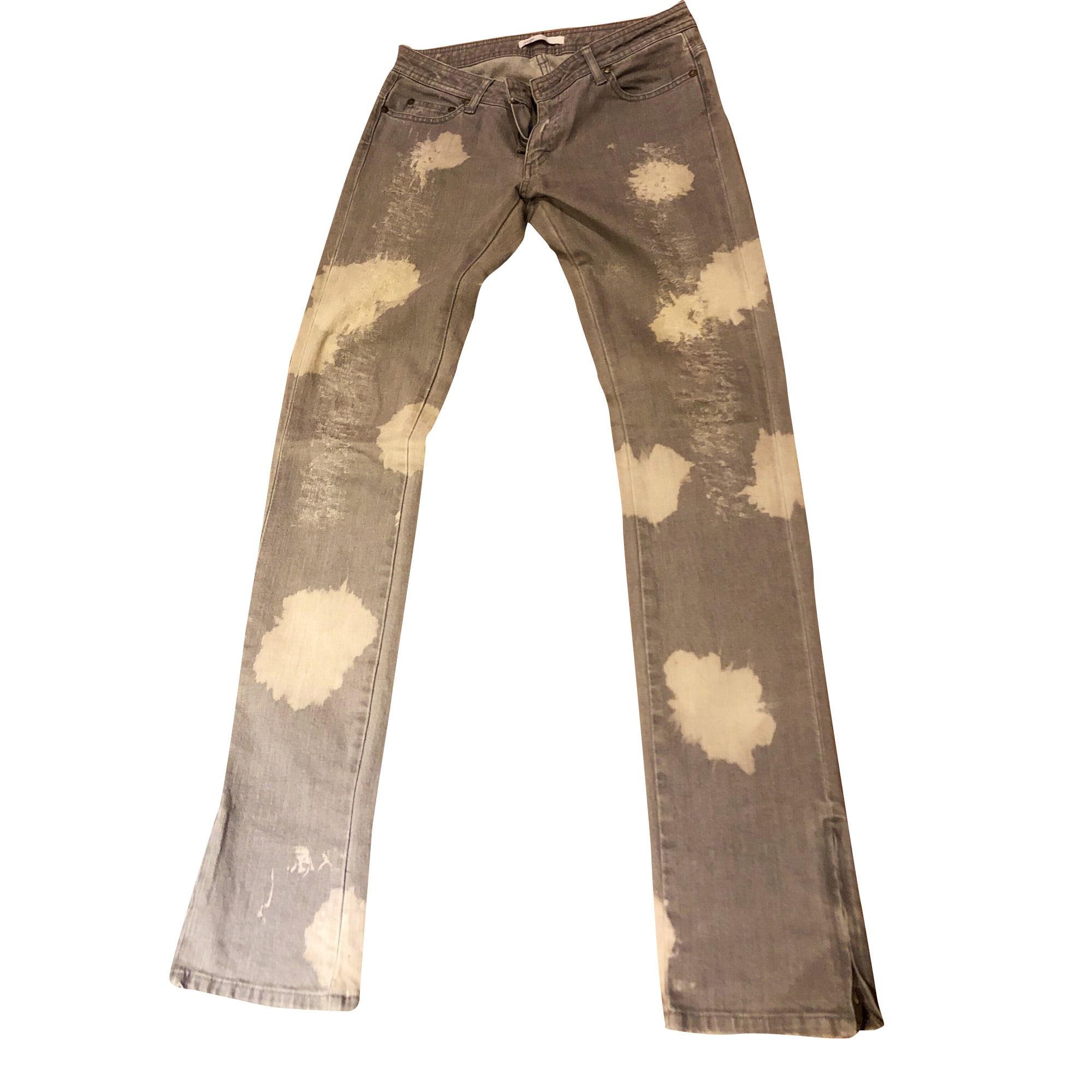 Jeans slim MAJE Gris, anthracite