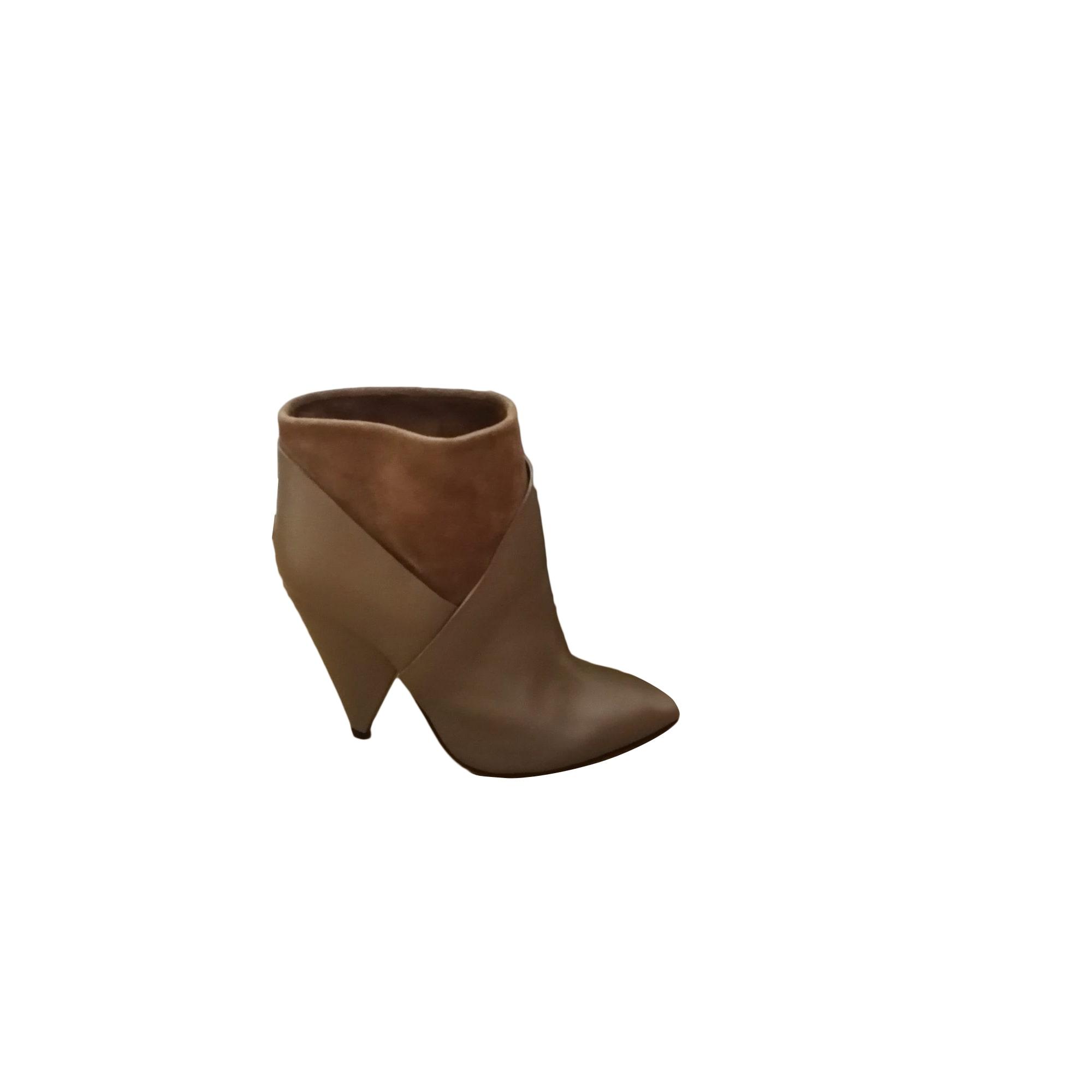 Bottines & low boots à talons IRO Marron