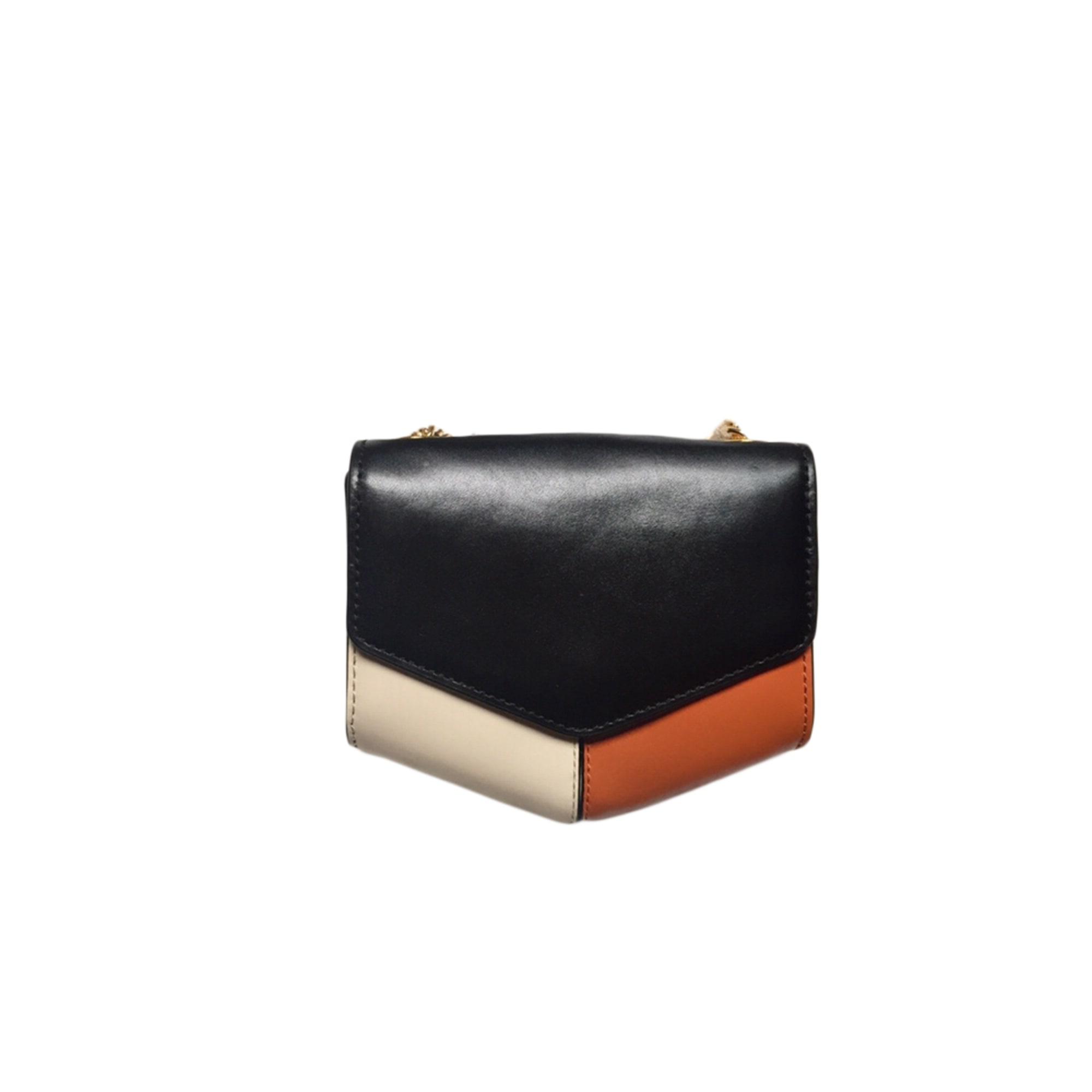 Leather Handbag SANDRO White, off-white, ecru