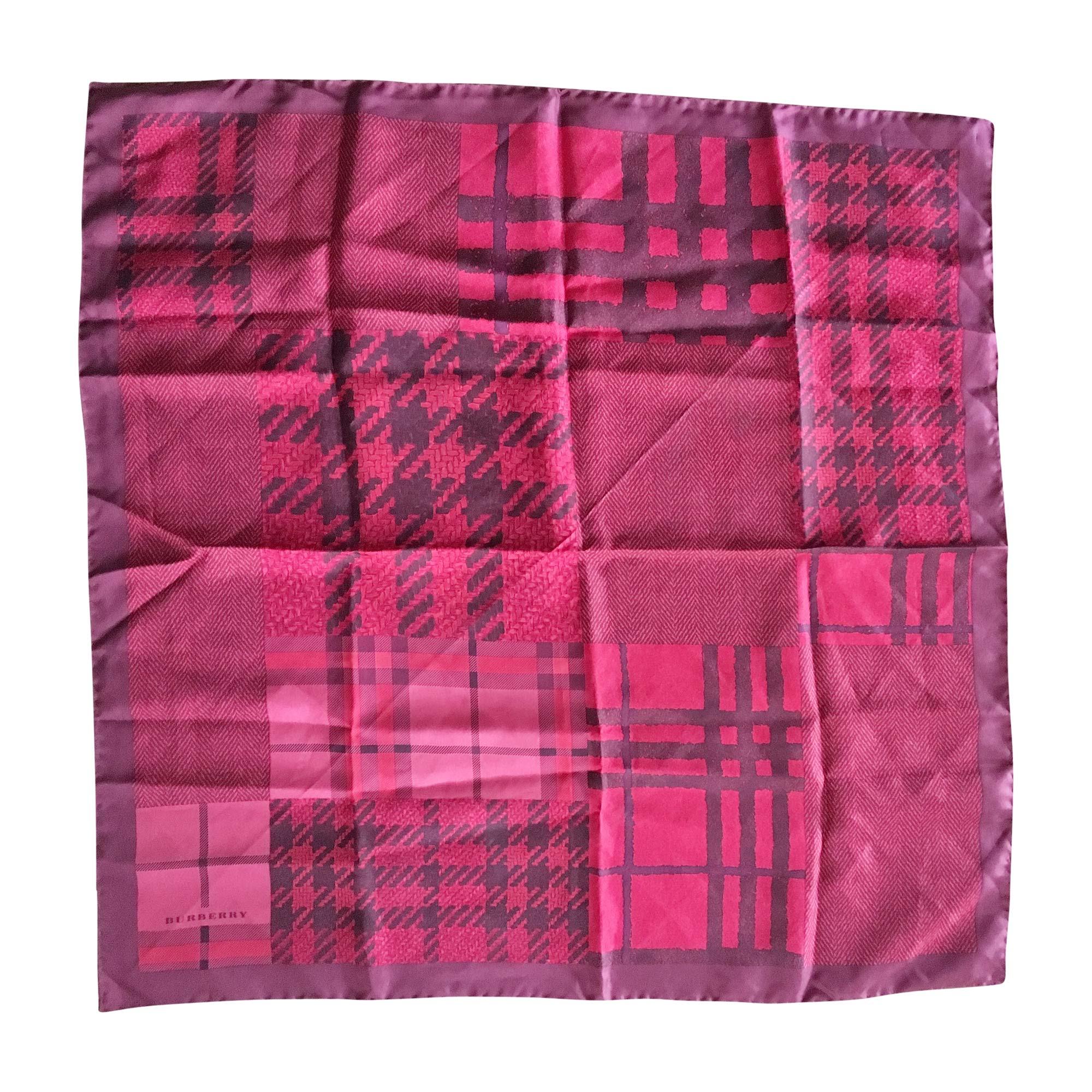 Silk Scarf BURBERRY Red, burgundy