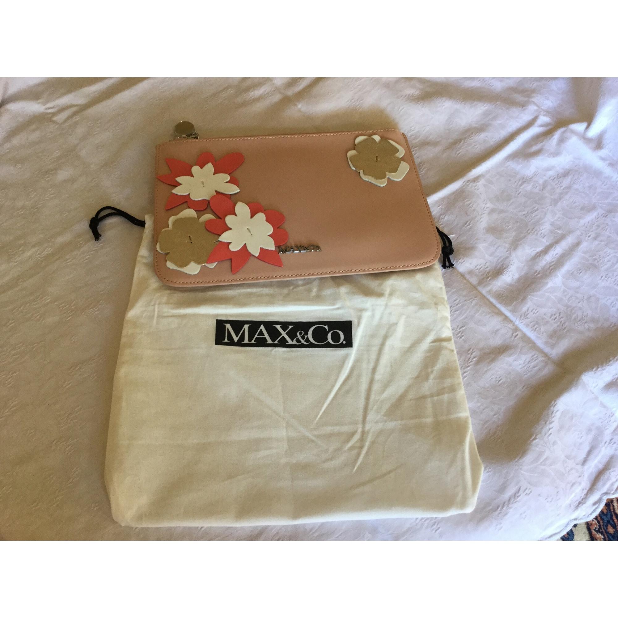 Sac pochette en cuir MAX & CO cuir rose
