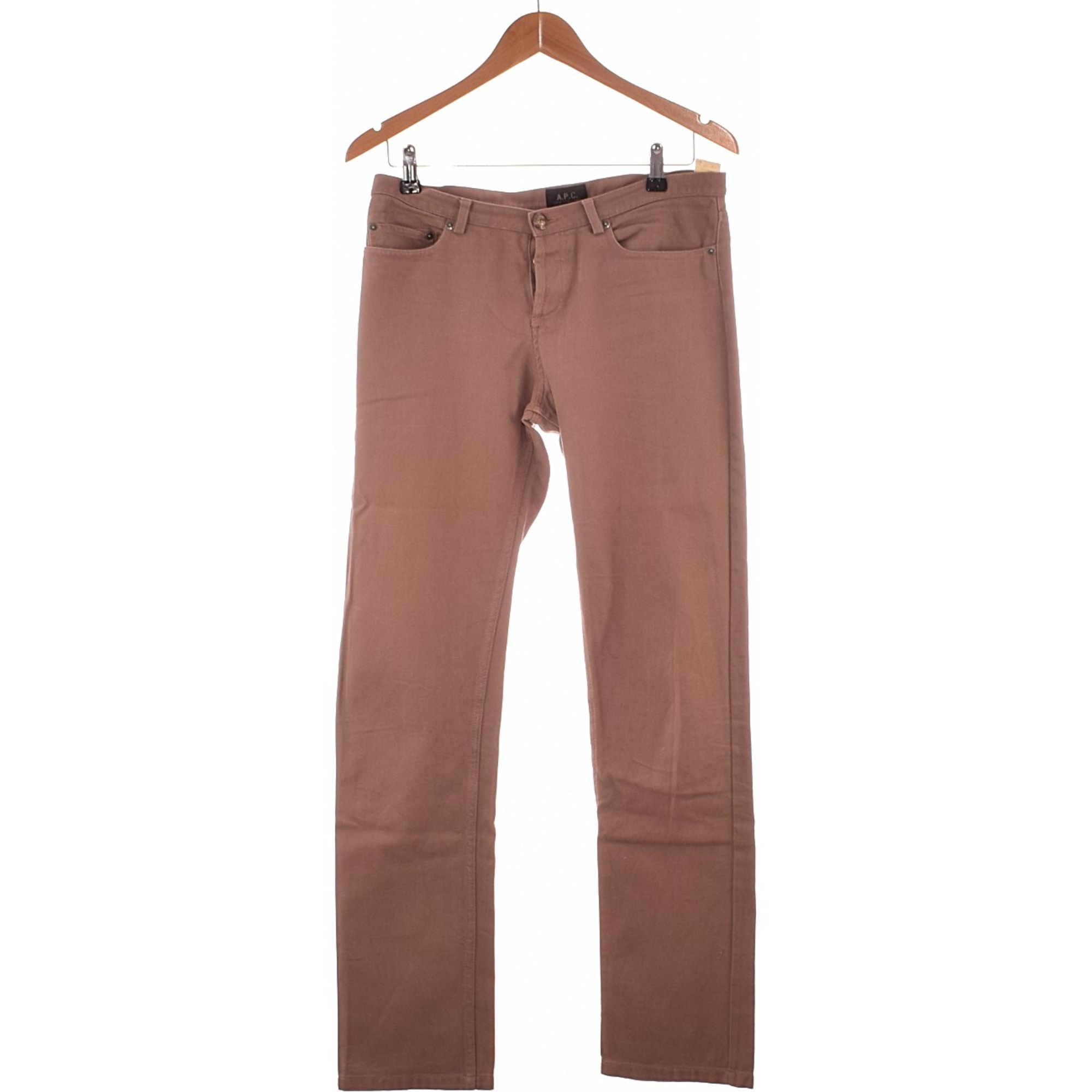 Pantalon droit A.P.C. Marron