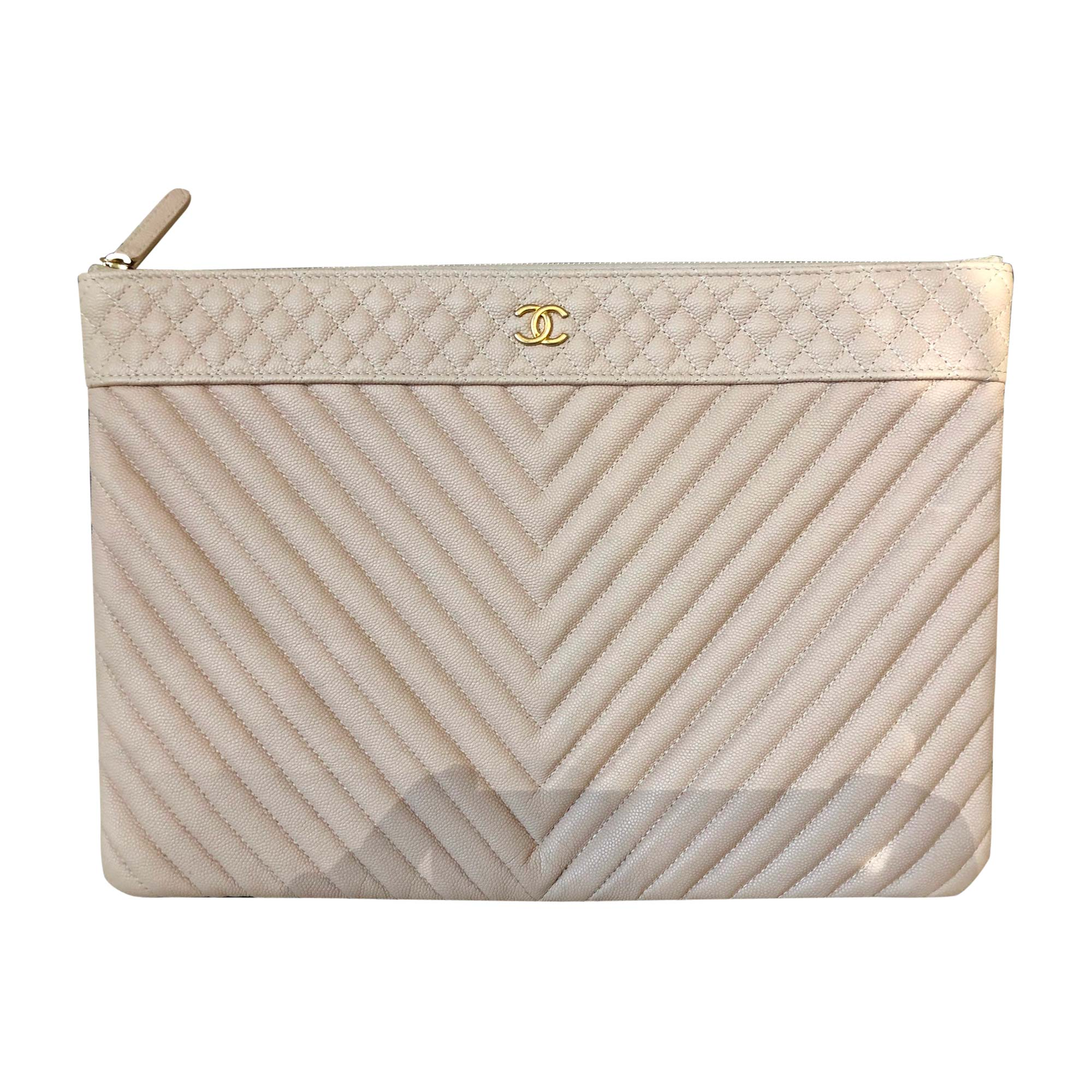 Pochette CHANEL nude beige rosee - 8485615 a79a53dac05
