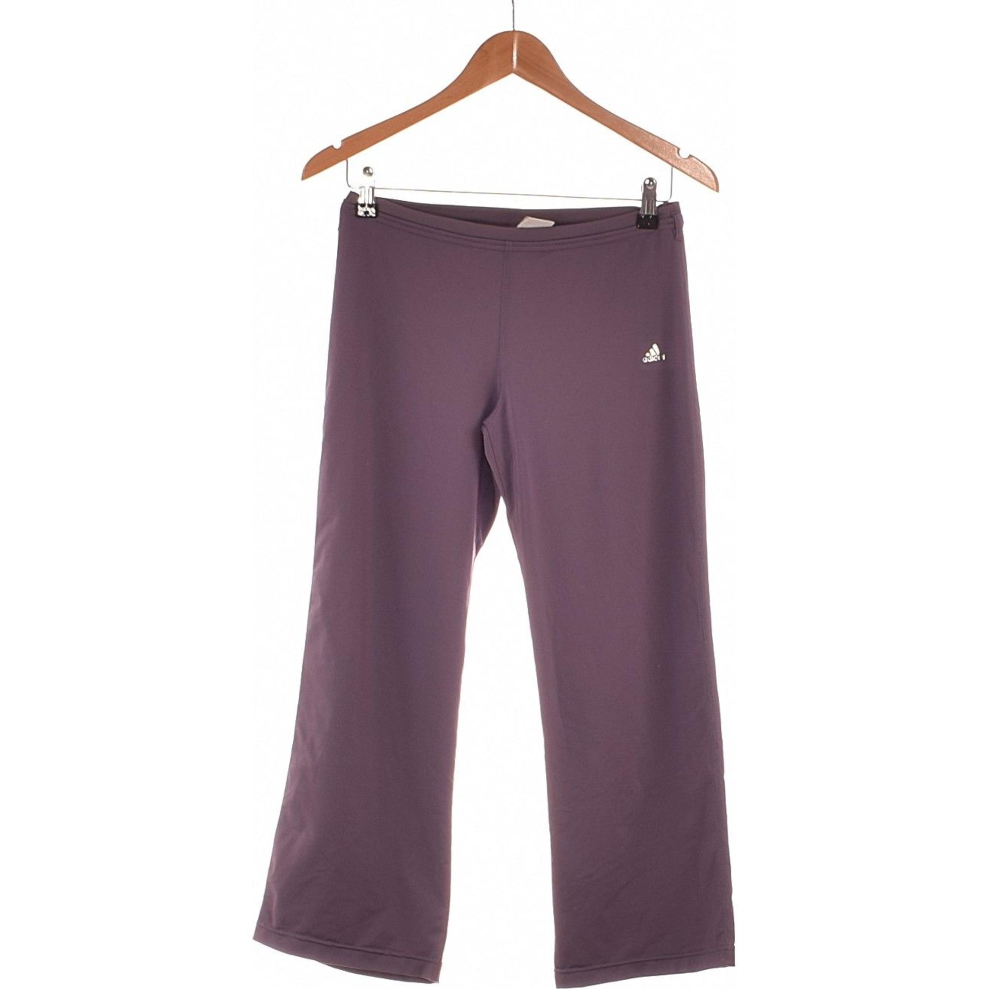 Straight Leg Pants ADIDAS Purple, mauve, lavender