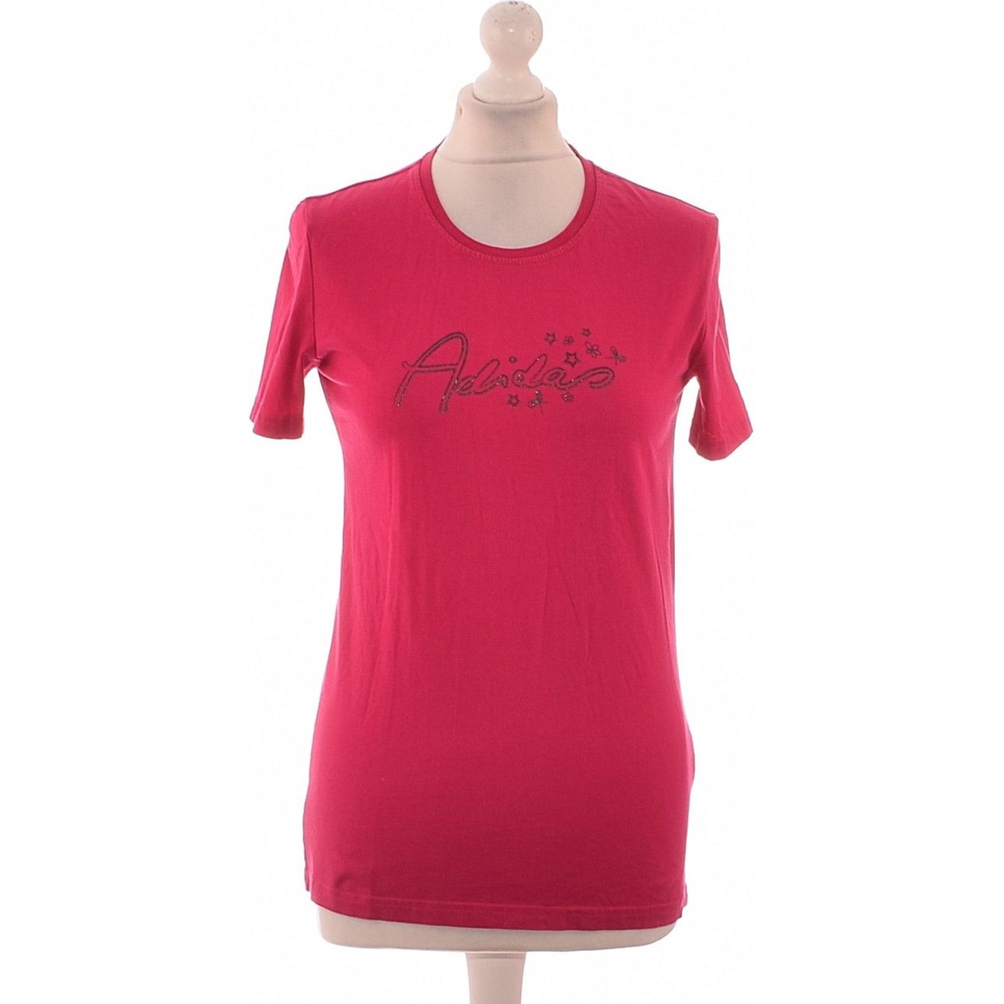 Top, t-shirt ADIDAS Rosa, fucsia, rosa antico