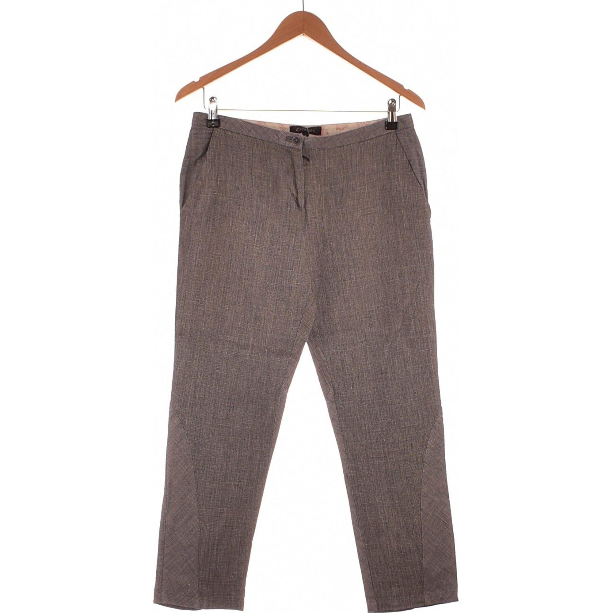 Pantalon droit COTÉLAC Gris, anthracite