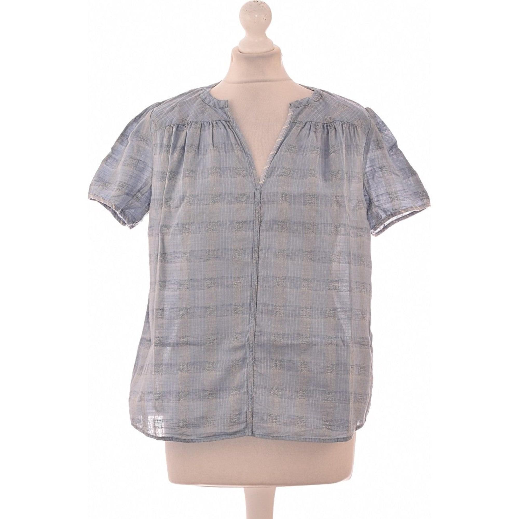 Top, tee-shirt COTÉLAC Bleu, bleu marine, bleu turquoise