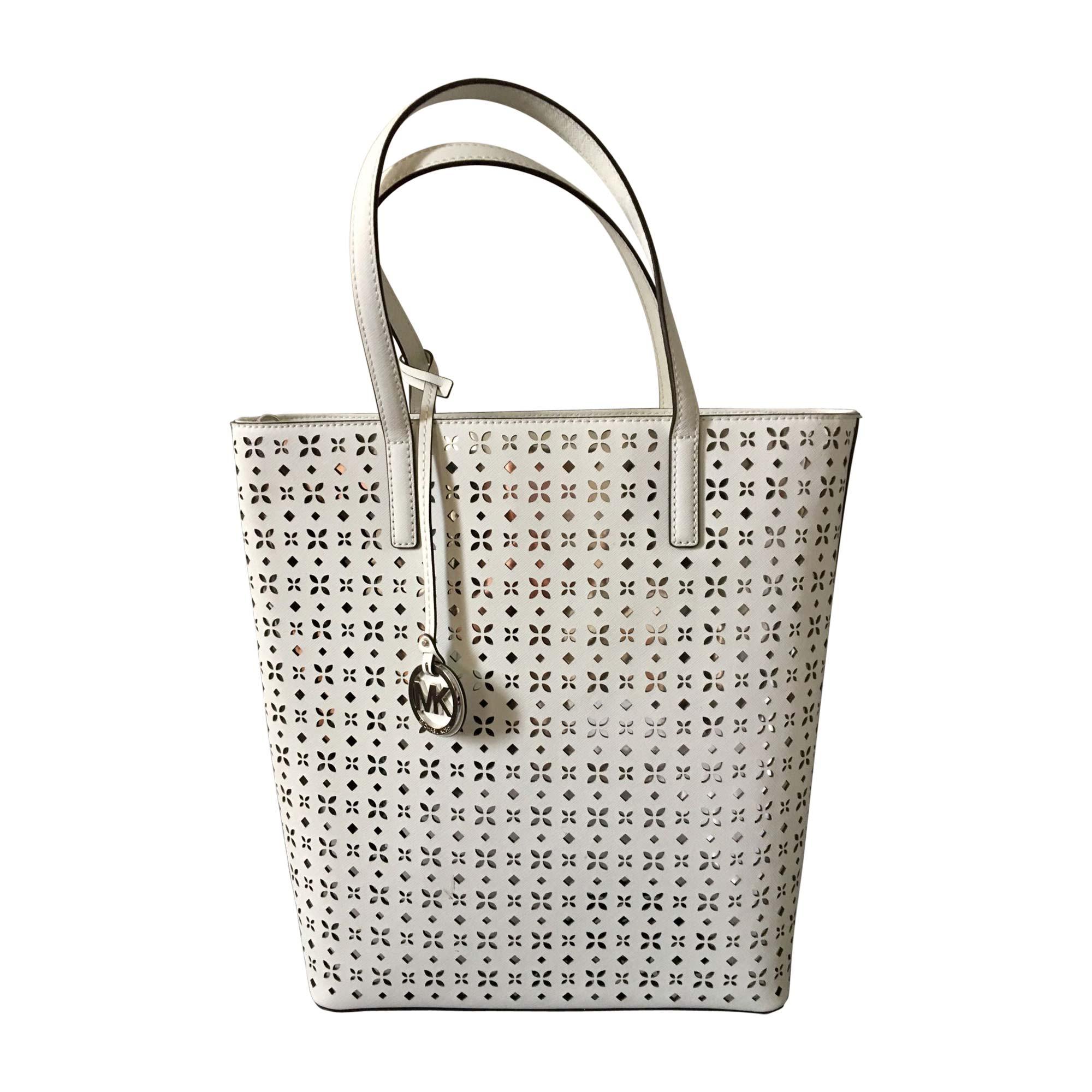 Leather Handbag MICHAEL KORS White, off-white, ecru
