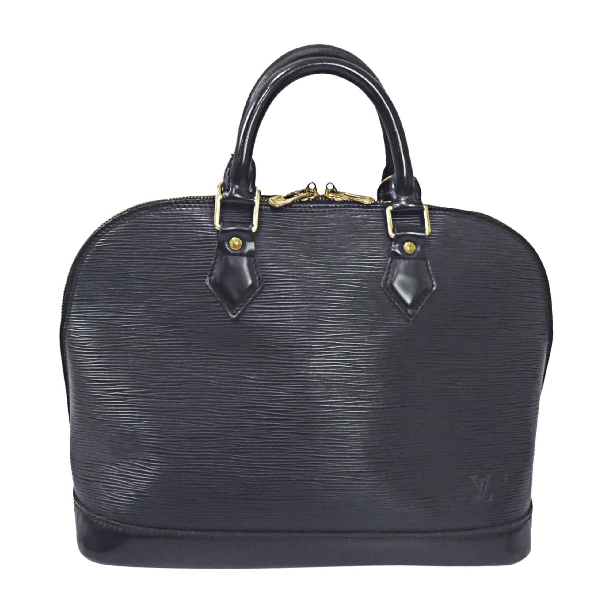 Leather Handbag LOUIS VUITTON Alma Black