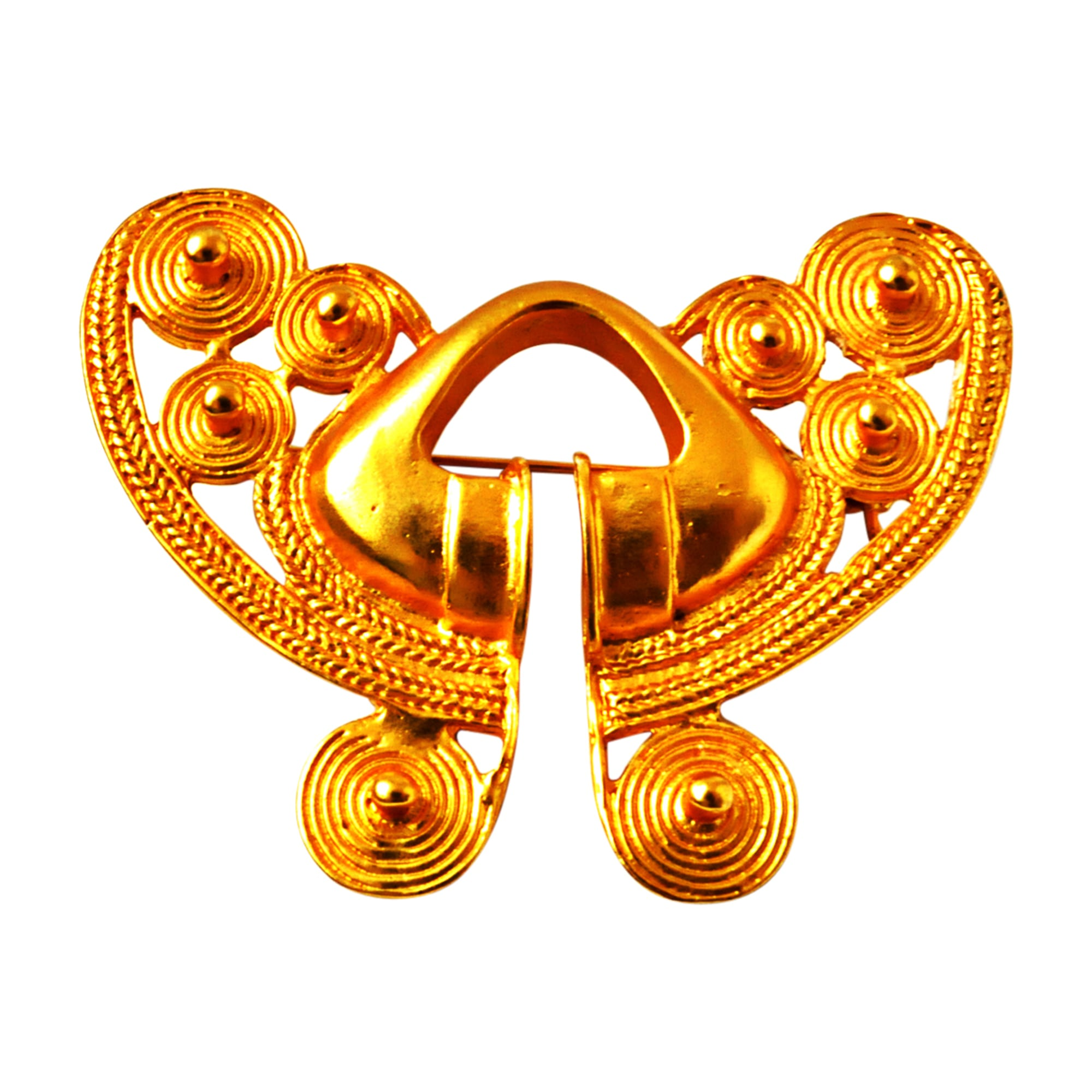 Brooch BALENCIAGA Golden, bronze, copper