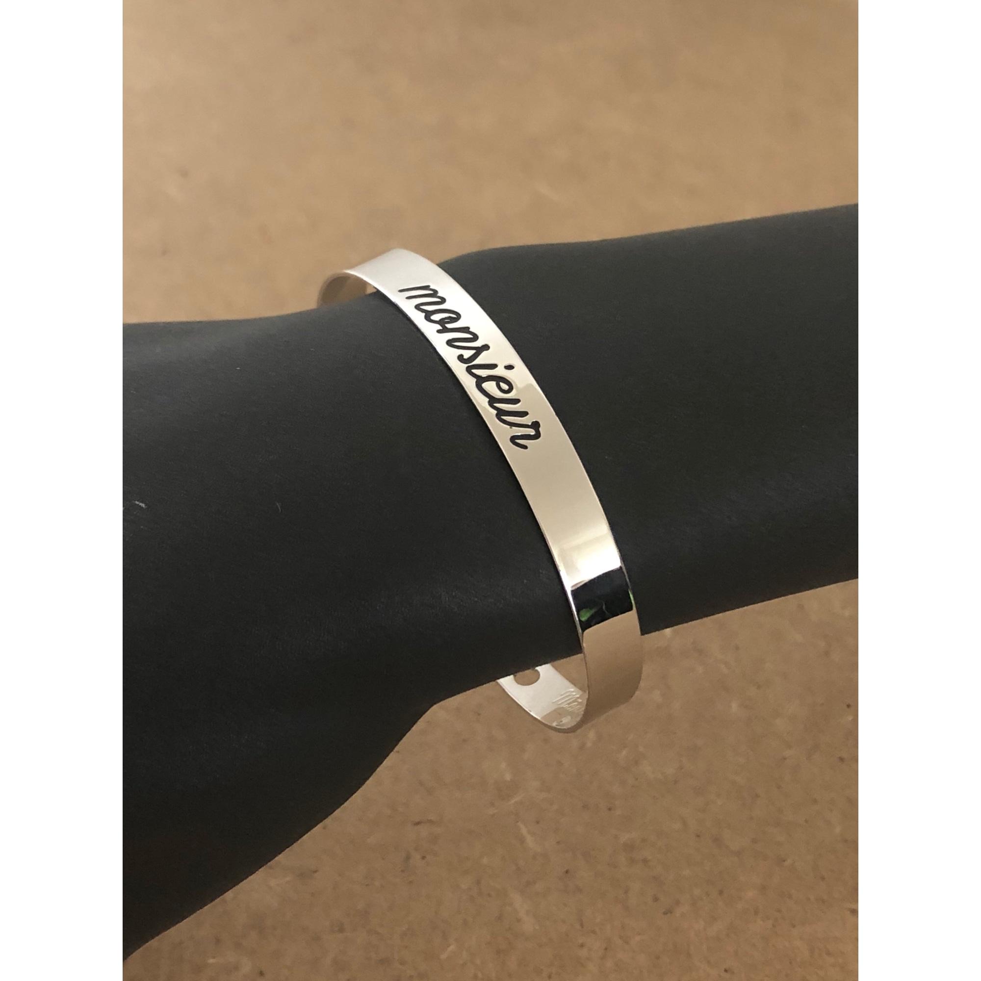 Bracelet MONSIEUR SIMONE laiton argent