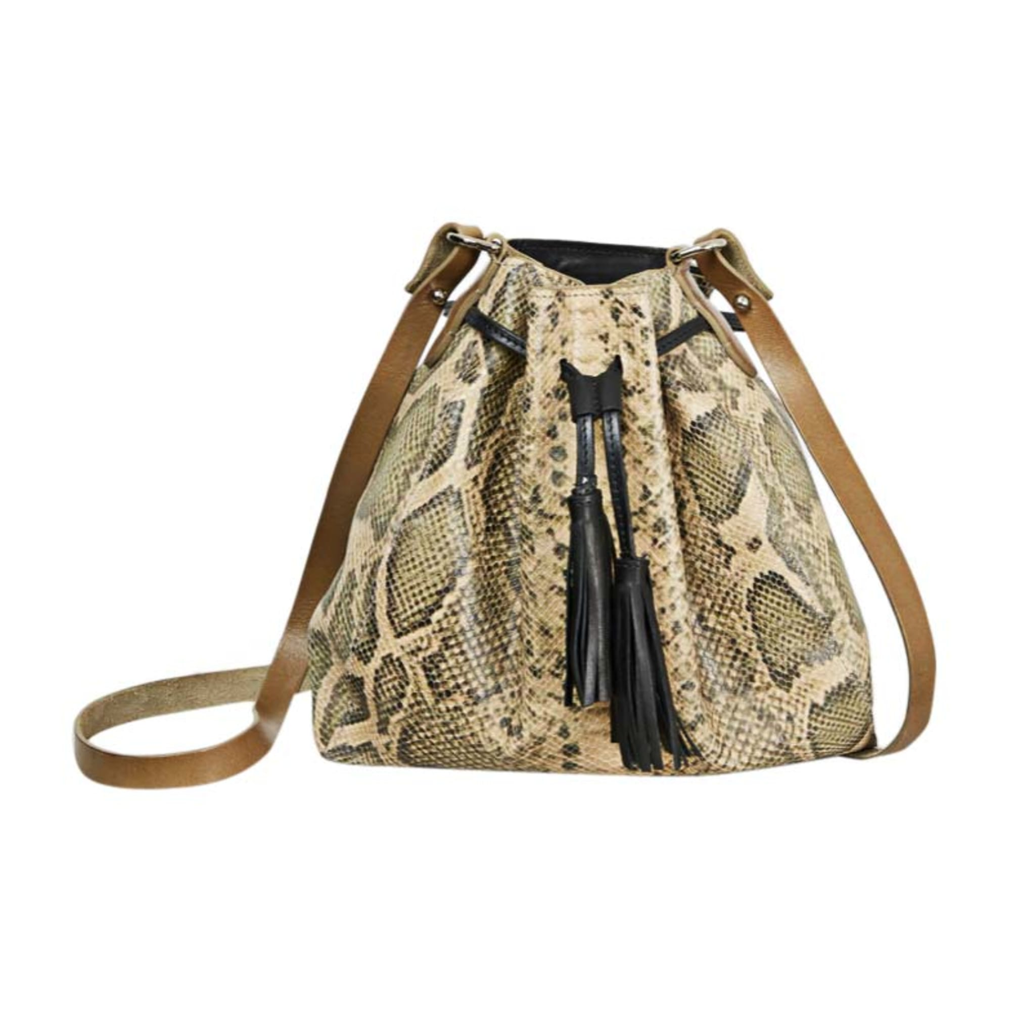 Leather Shoulder Bag ISABEL MARANT Beige, camel
