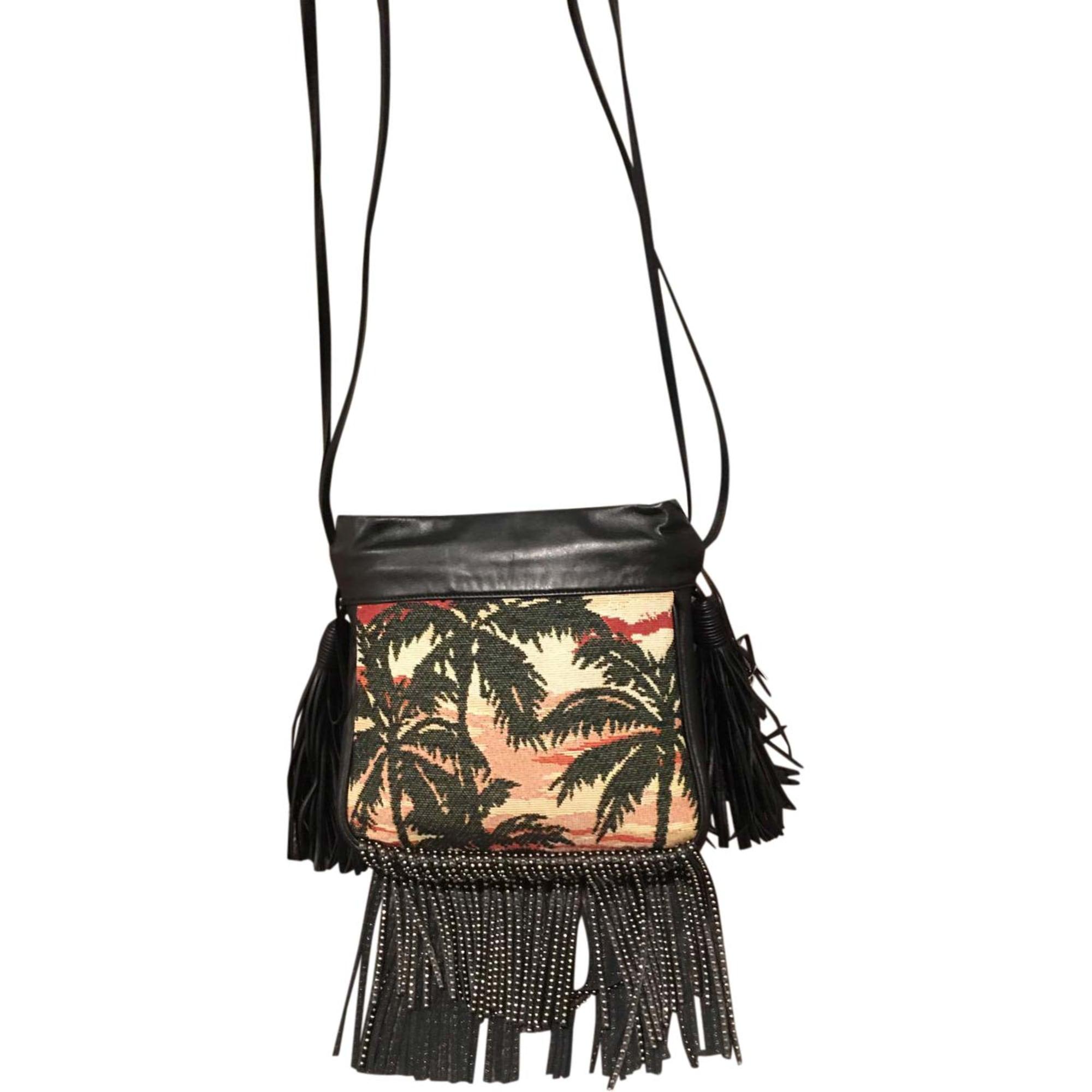 Leather Shoulder Bag SAINT LAURENT Black