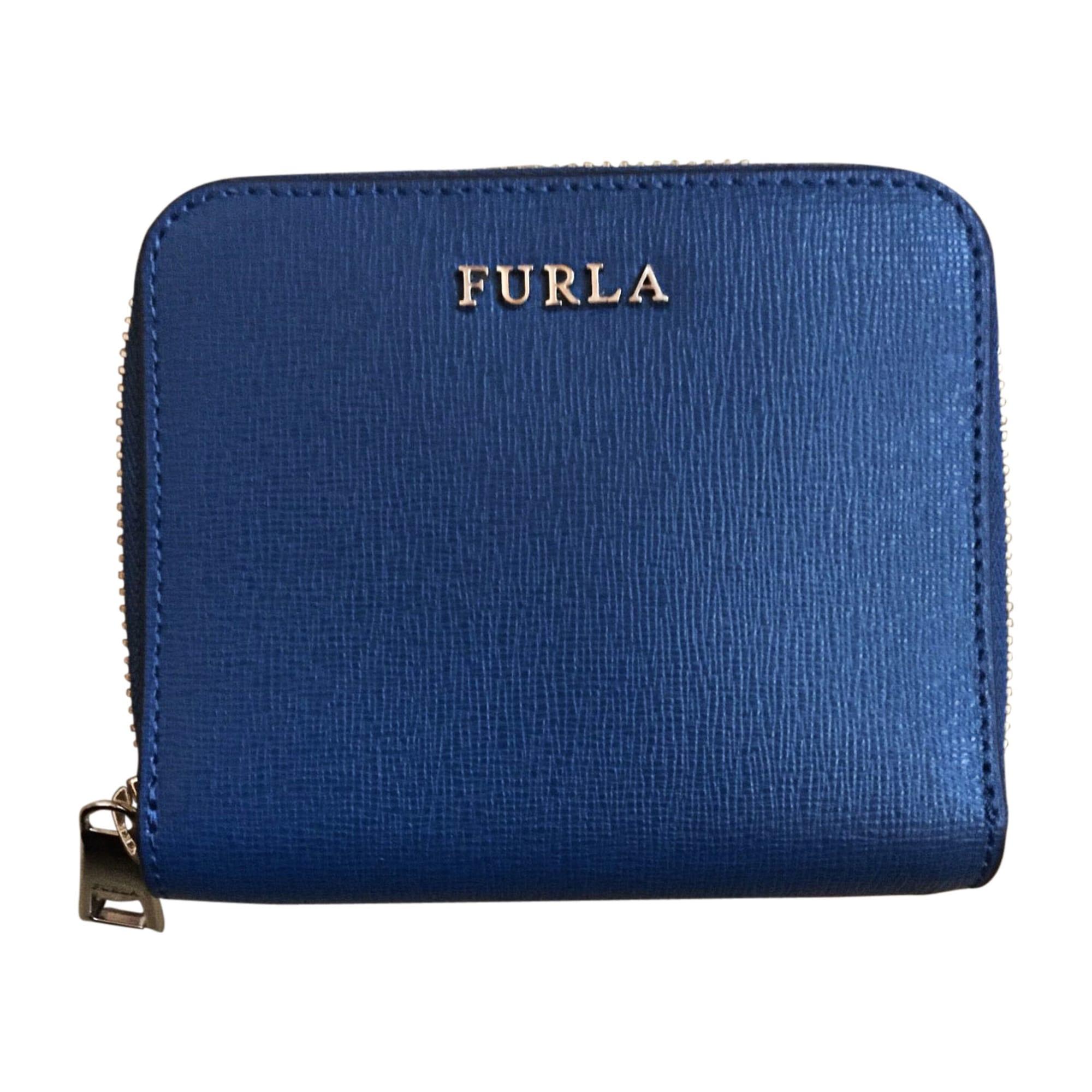 Porte-monnaie FURLA Bleu, bleu marine, bleu turquoise