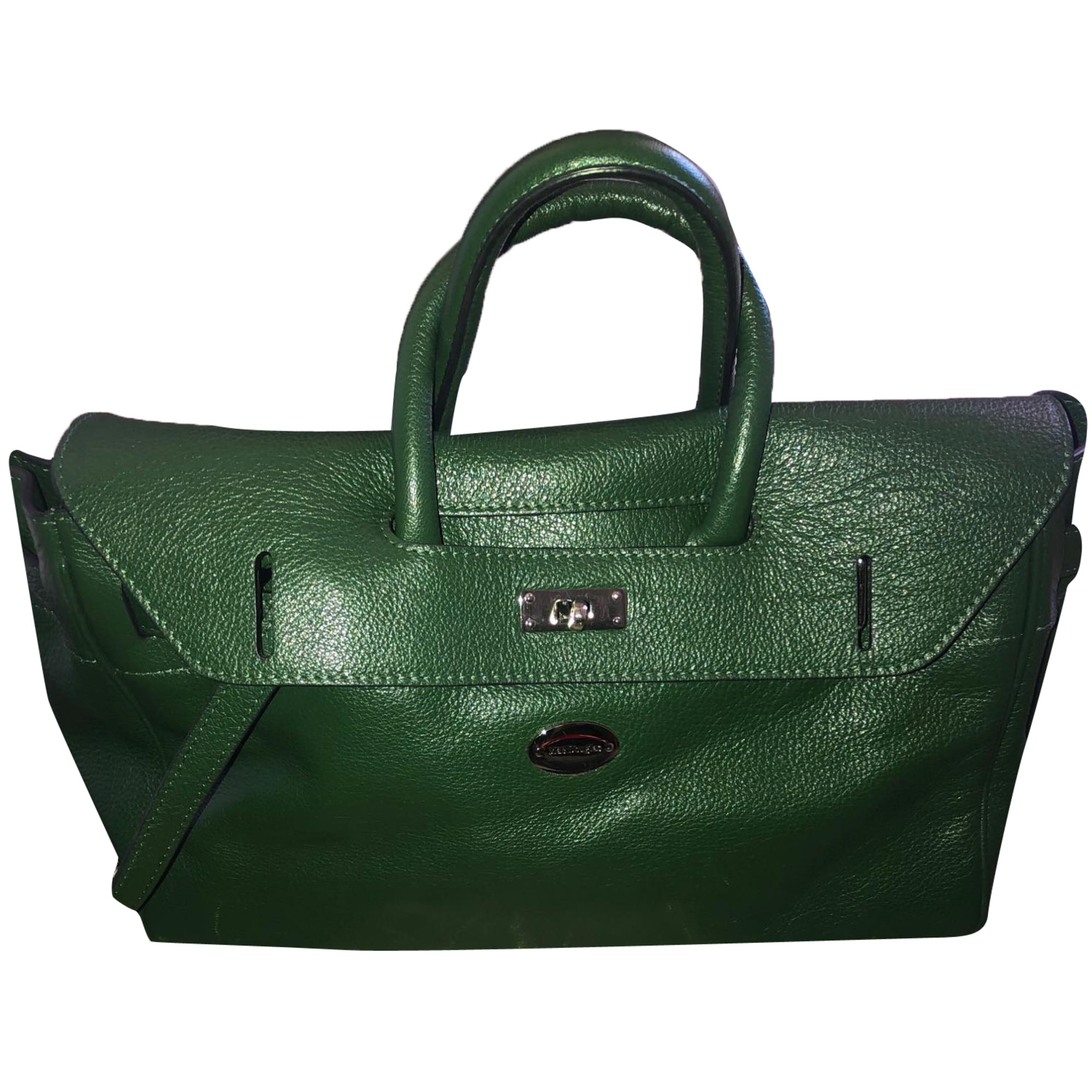 Leather Handbag MAC DOUGLAS Green