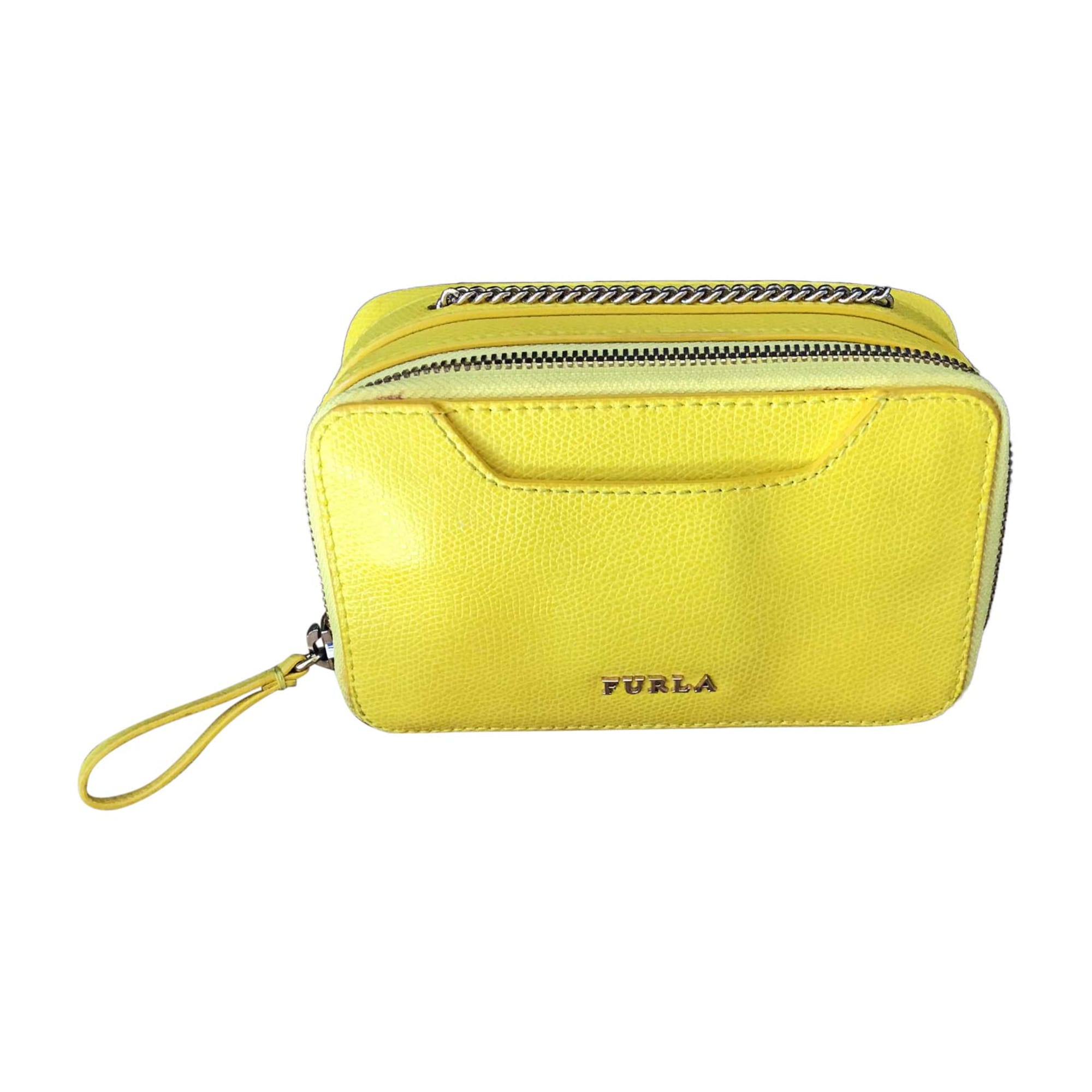 Leather Shoulder Bag FURLA Yellow