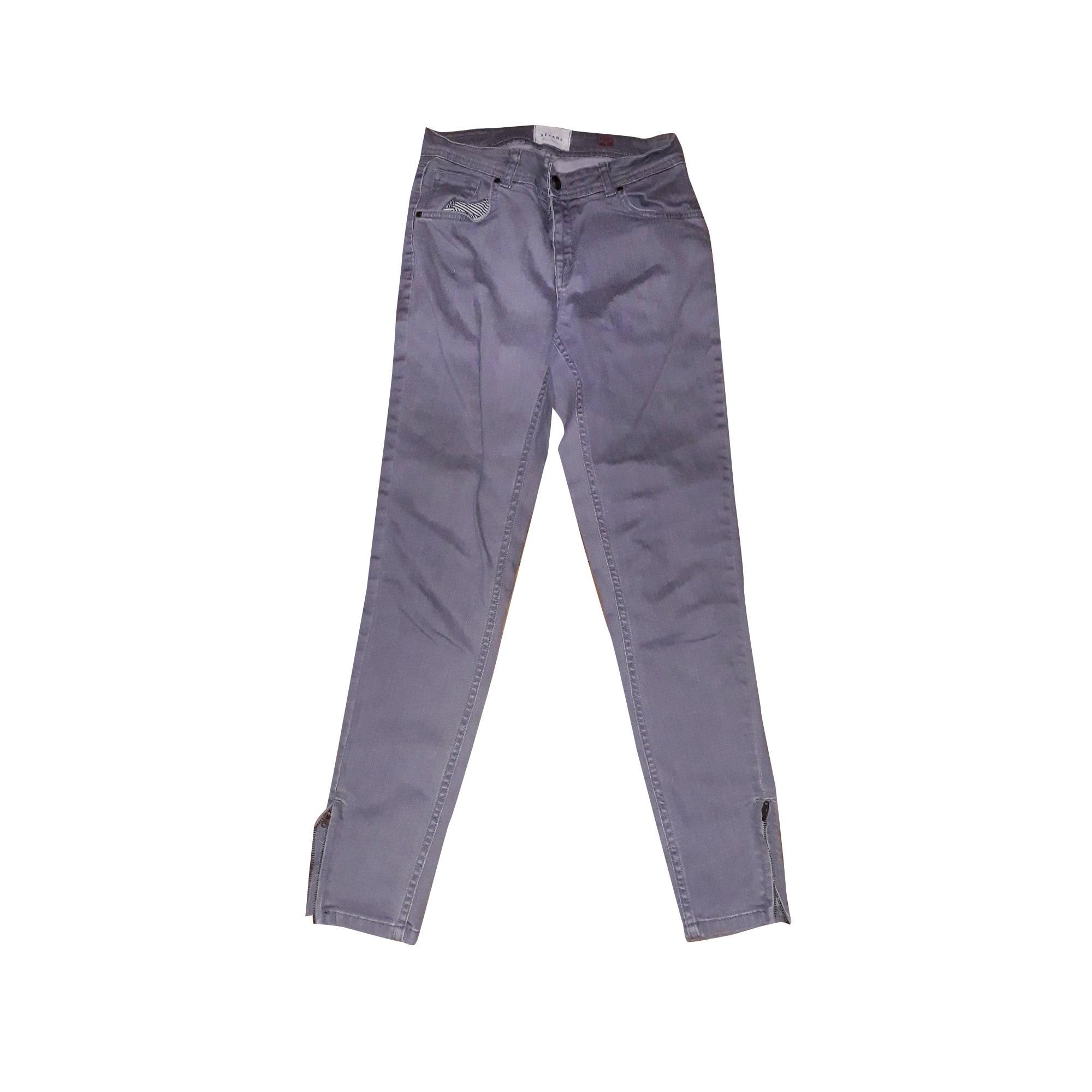 Jeans slim SÉZANE Grigio, antracite