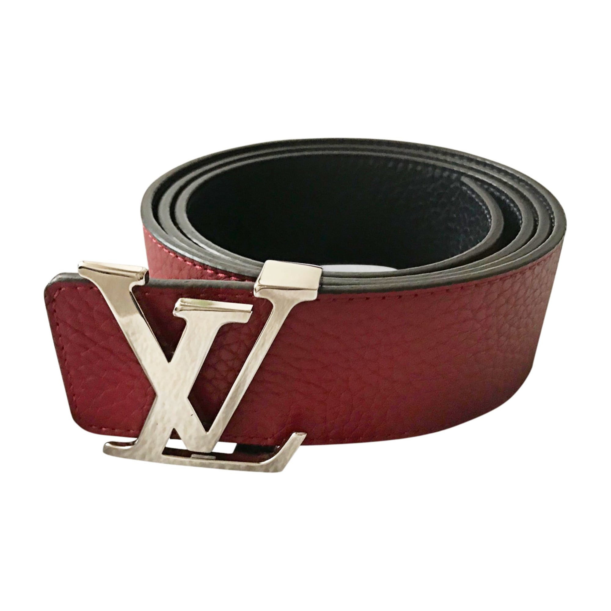 Belt LOUIS VUITTON navy/bordeaux